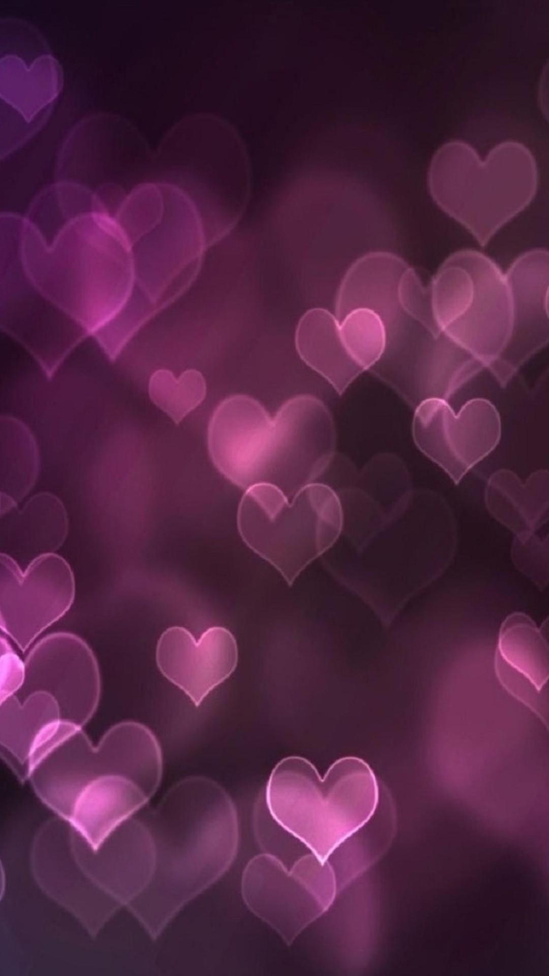 Res: 1080x1920, Pink Hearts Wallpaper