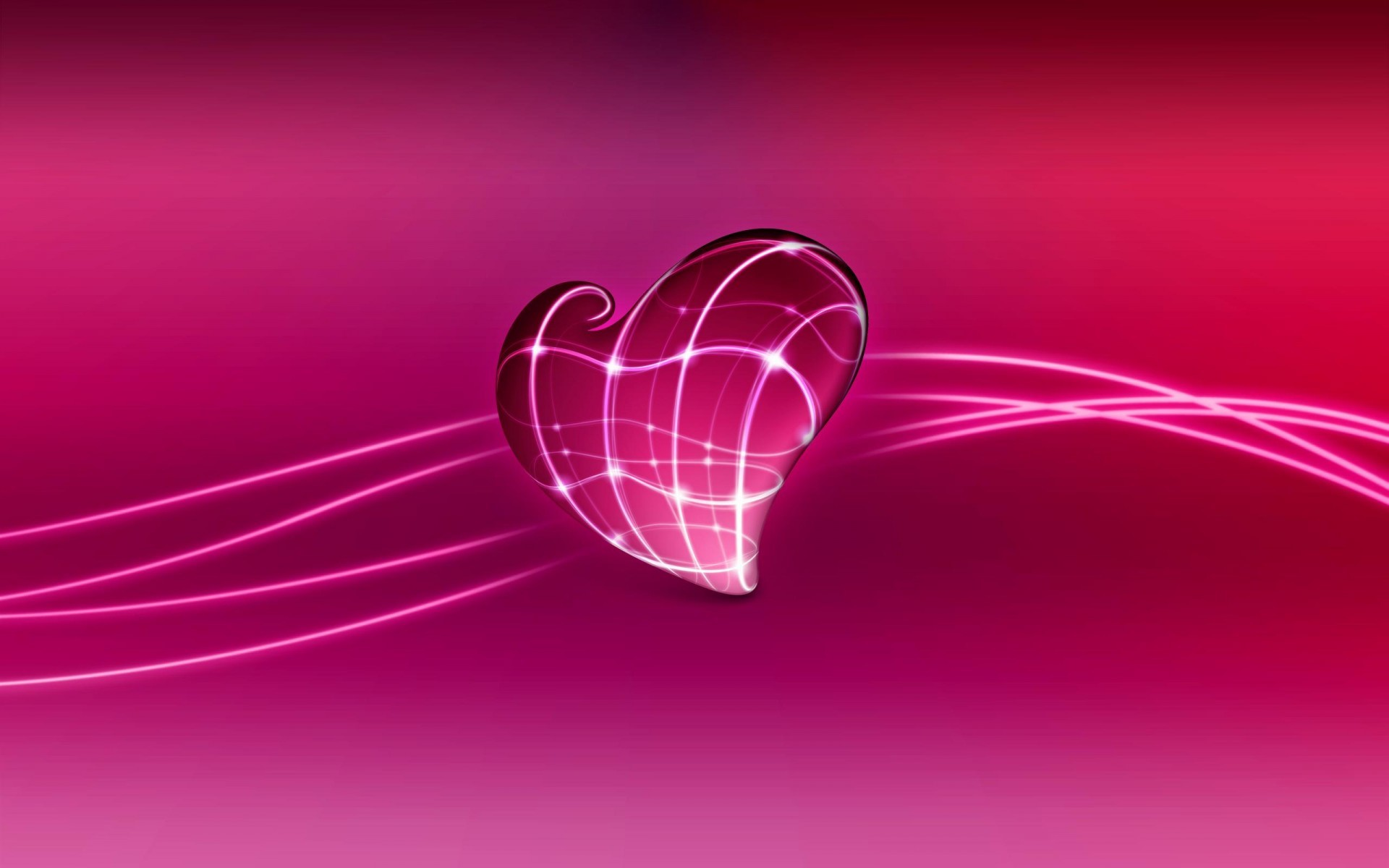 Res: 1920x1200, 3D Love Heart