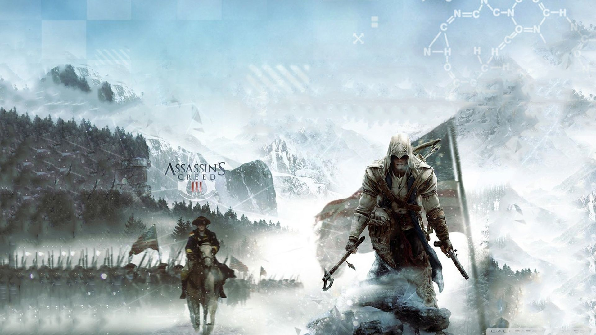 Res: 1920x1080, 'Assassin's Creed III' is officially going to the American Revolution. A  Game Informer cover and new box art shows a gorgeous vision of Ubisoft's ...