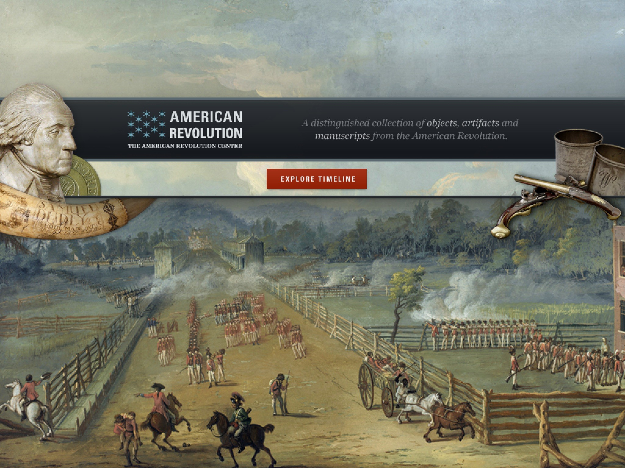 Res: 2048x1536, American Revolution Interactive Timeline for iPad lets kids explore objects  from a museum exhibit.