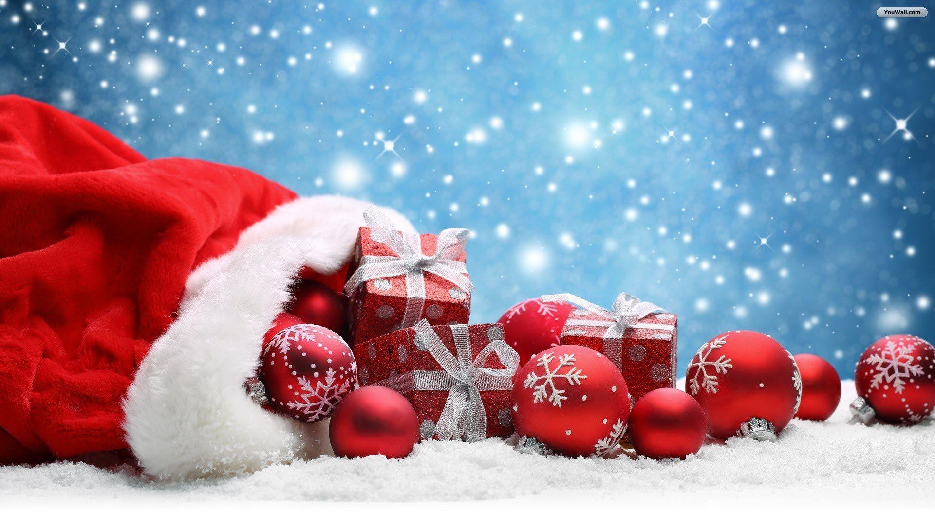Res: 1920x1080, YouWall Christmas Gifts and Balls Wallpaper wallpaper