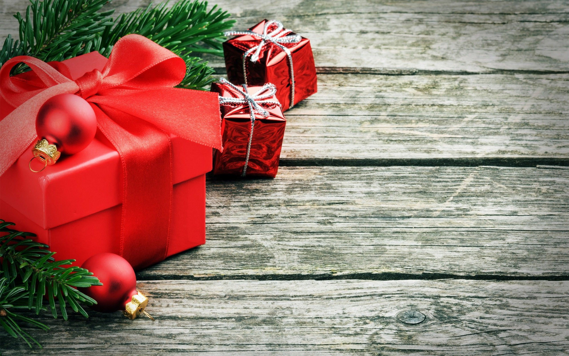 Res: 1920x1200, Red Christmas Presents HD Wallpaper