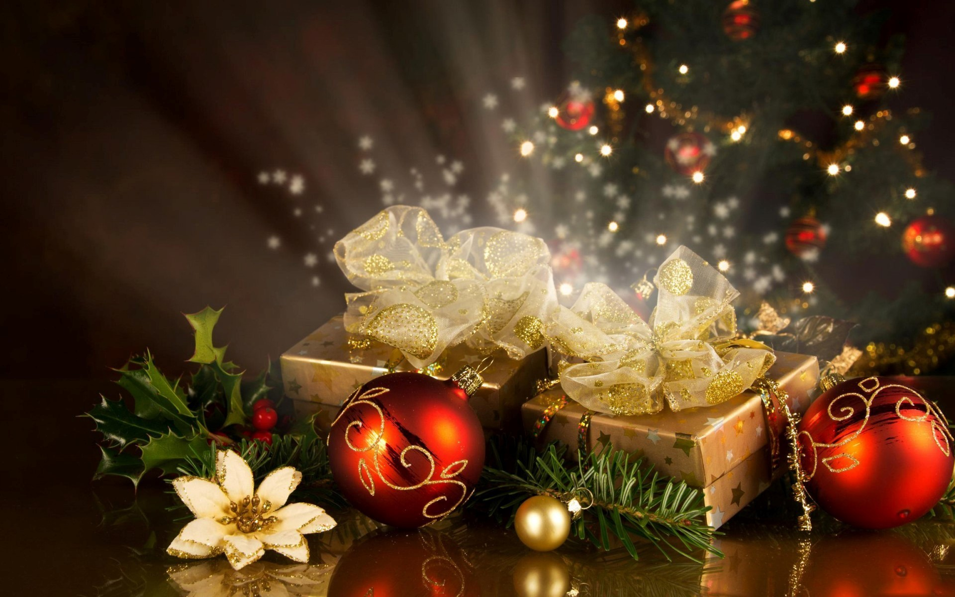 Res: 1920x1200, Christmas Gifts and Decoration Balls on 2013 Festival HD Wallpapers   HD  Wallpapers