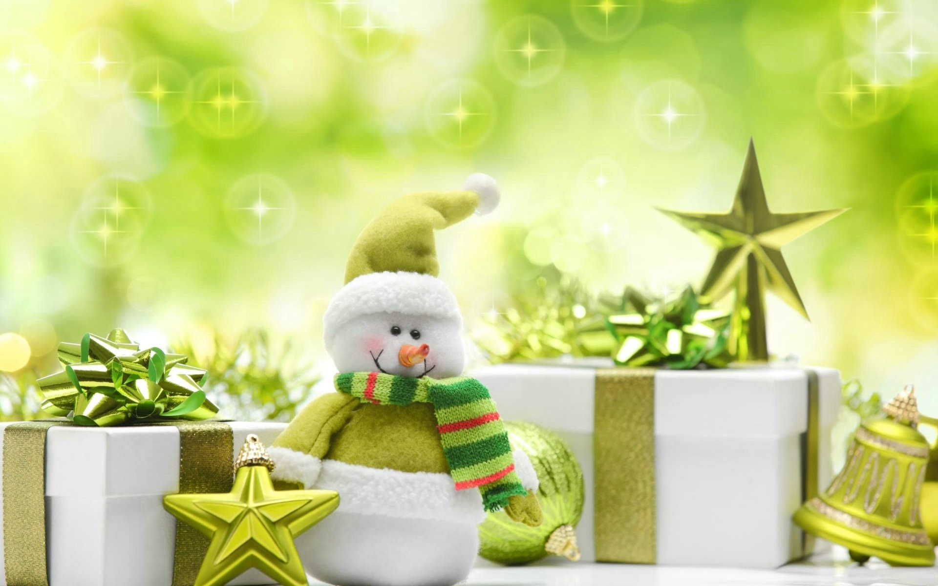 Res: 1920x1200, Green Christmas Presents