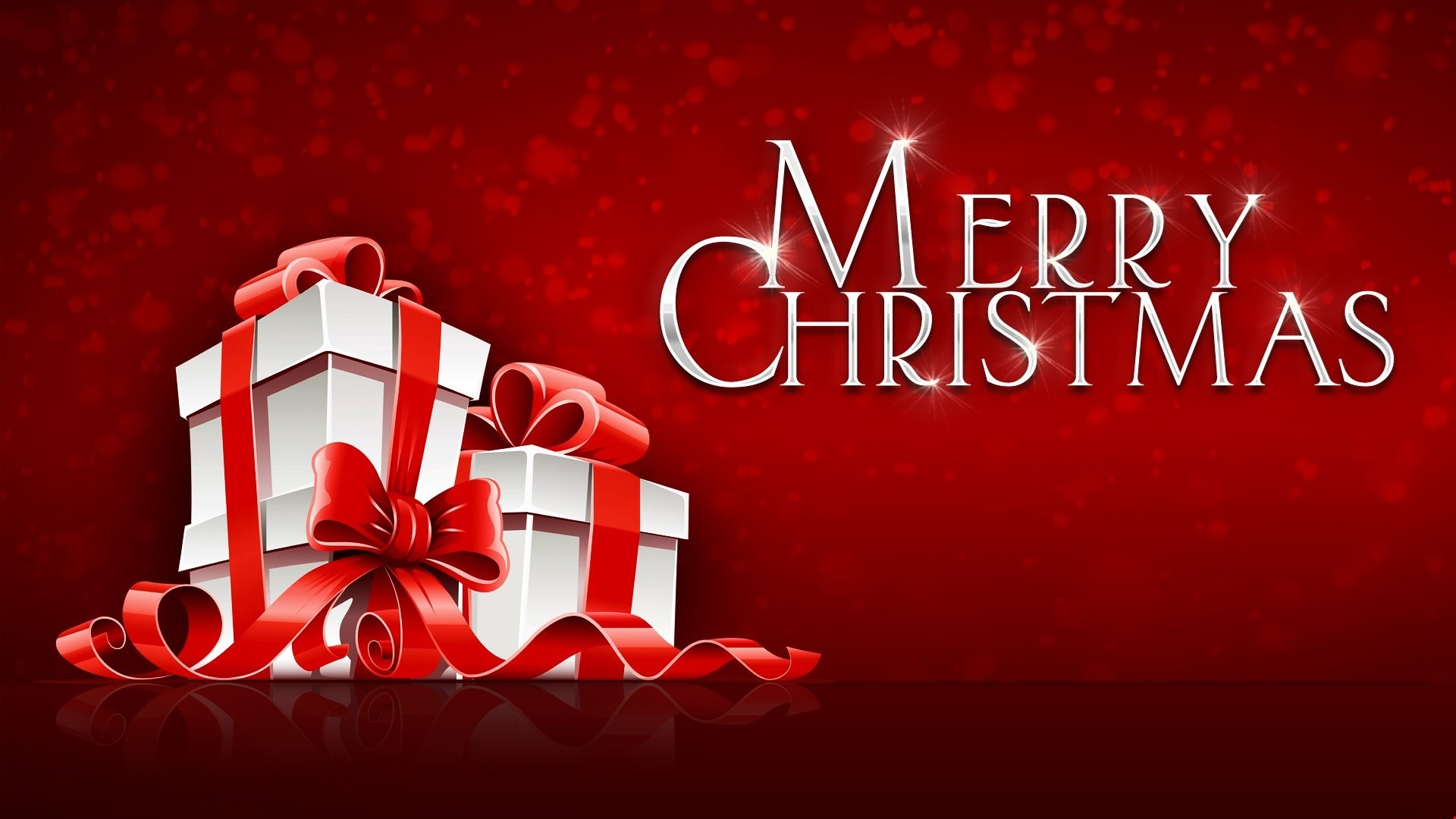 Res: 1920x1080, Download Merry Christmas Gift on Festival Red Background HD Wallpapers