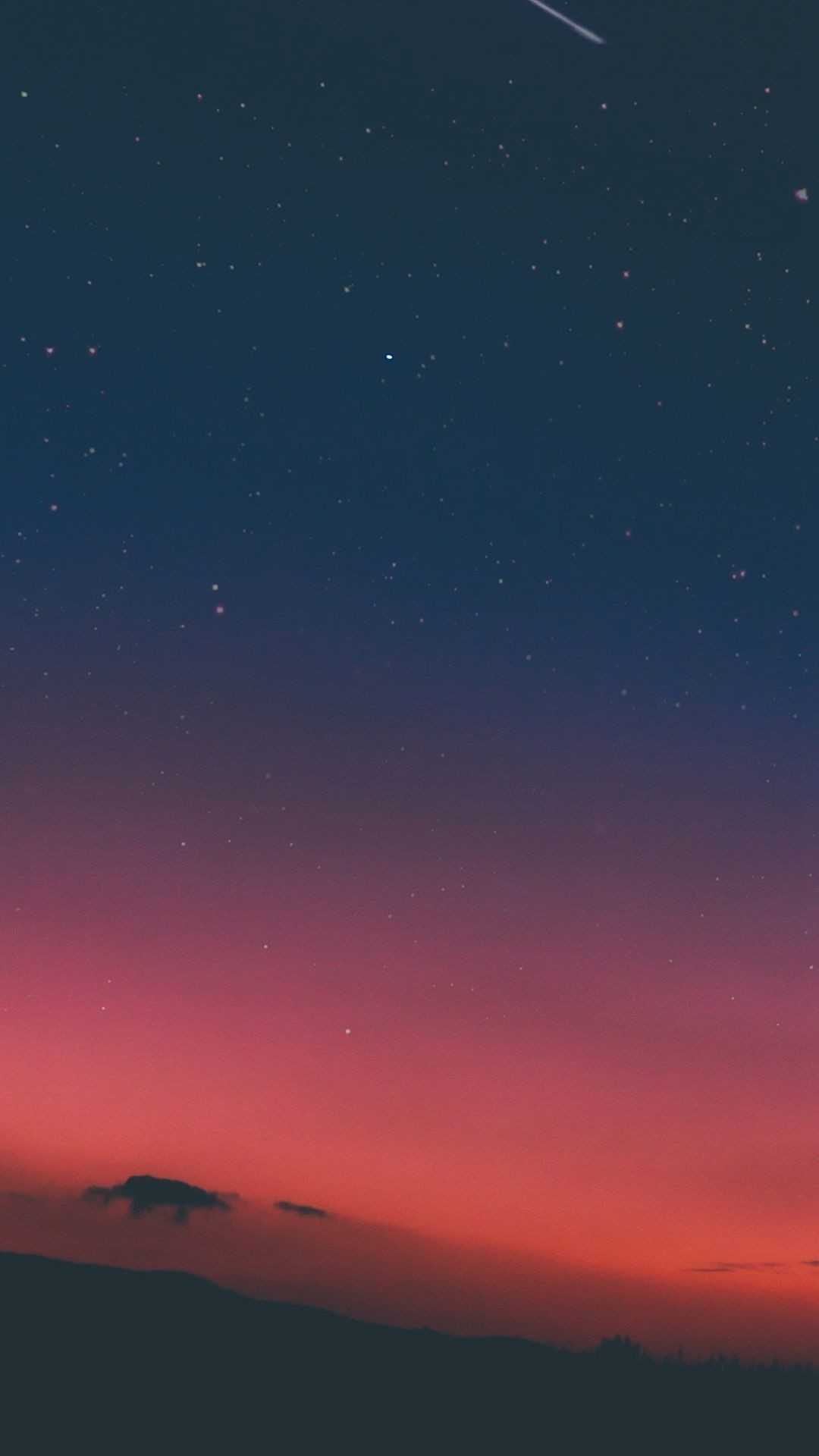 Res: 1080x1920, Night Sky Sunset Pink Nature #iPhone #8 #wallpaper