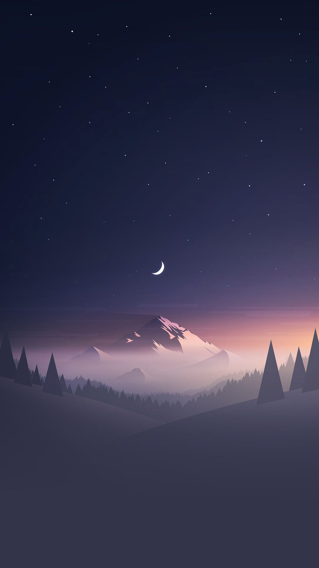 Res: 1080x1920, iPhone X Wallpapers Size Luxury Stars and Moon Winter Mountain Landscape  iPhone 6 Wallpaper Of iPhone