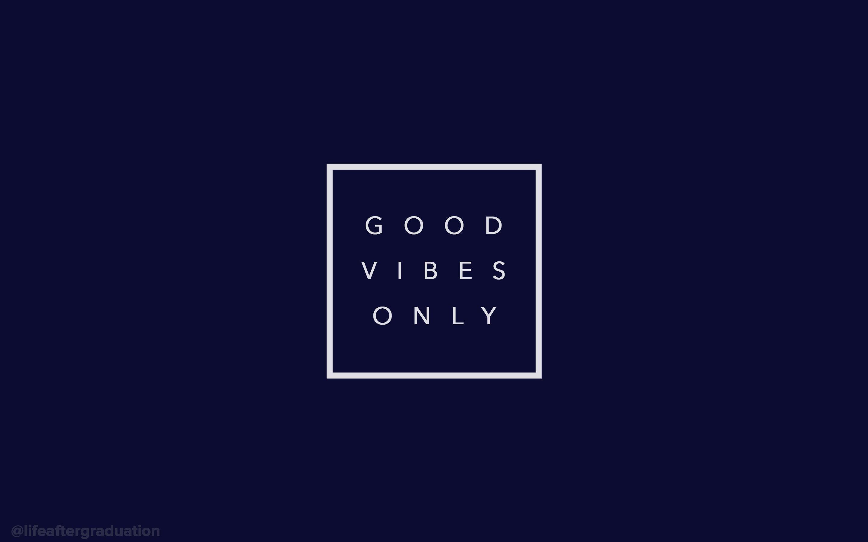Res: 2880x1800, good vibes only (navy) - desktop wallpaper …