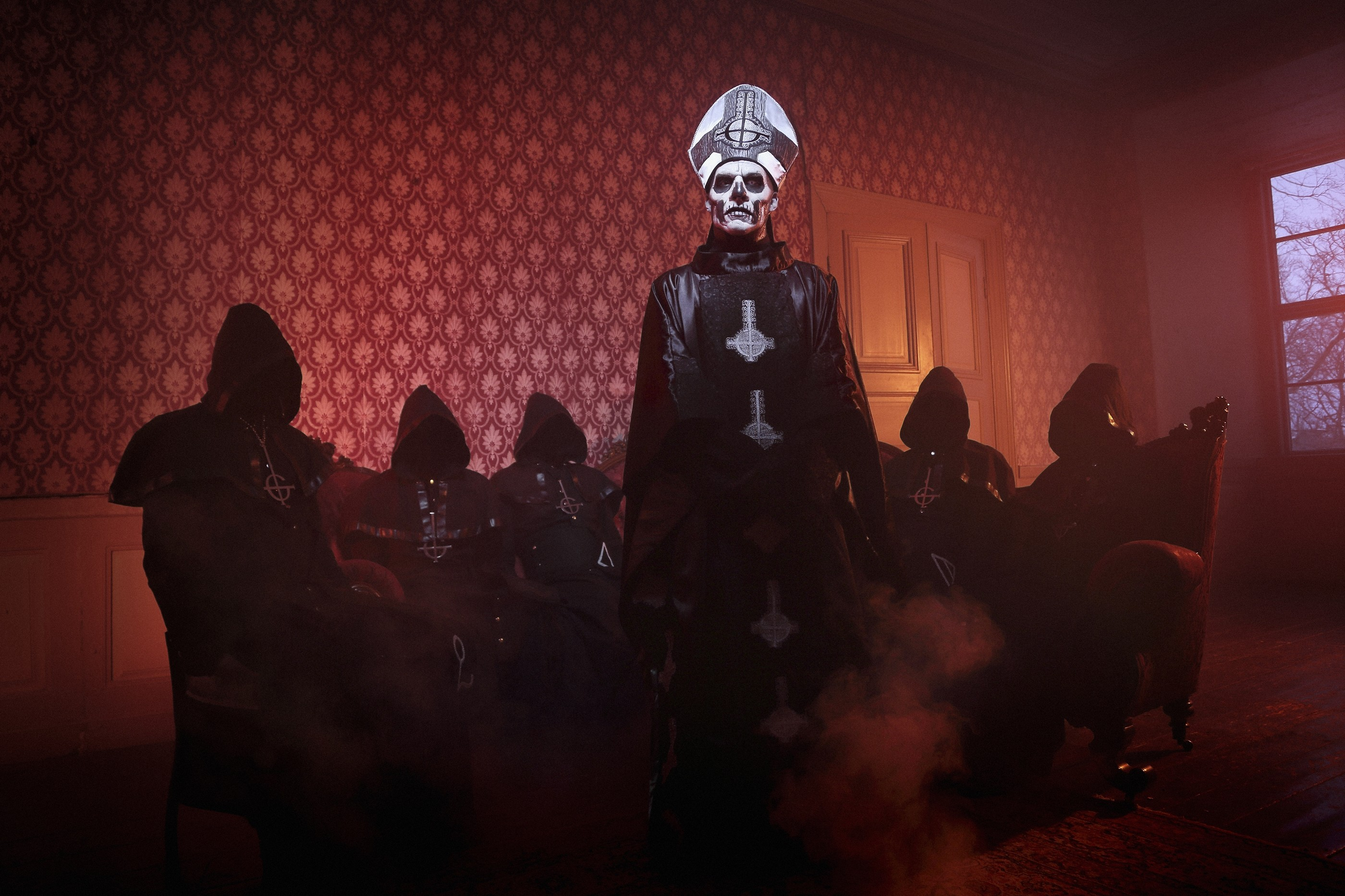 Res: 2800x1867, Music - Ghost Swedish Music Heavy Metal Band Dark Satanic Metal Wallpaper