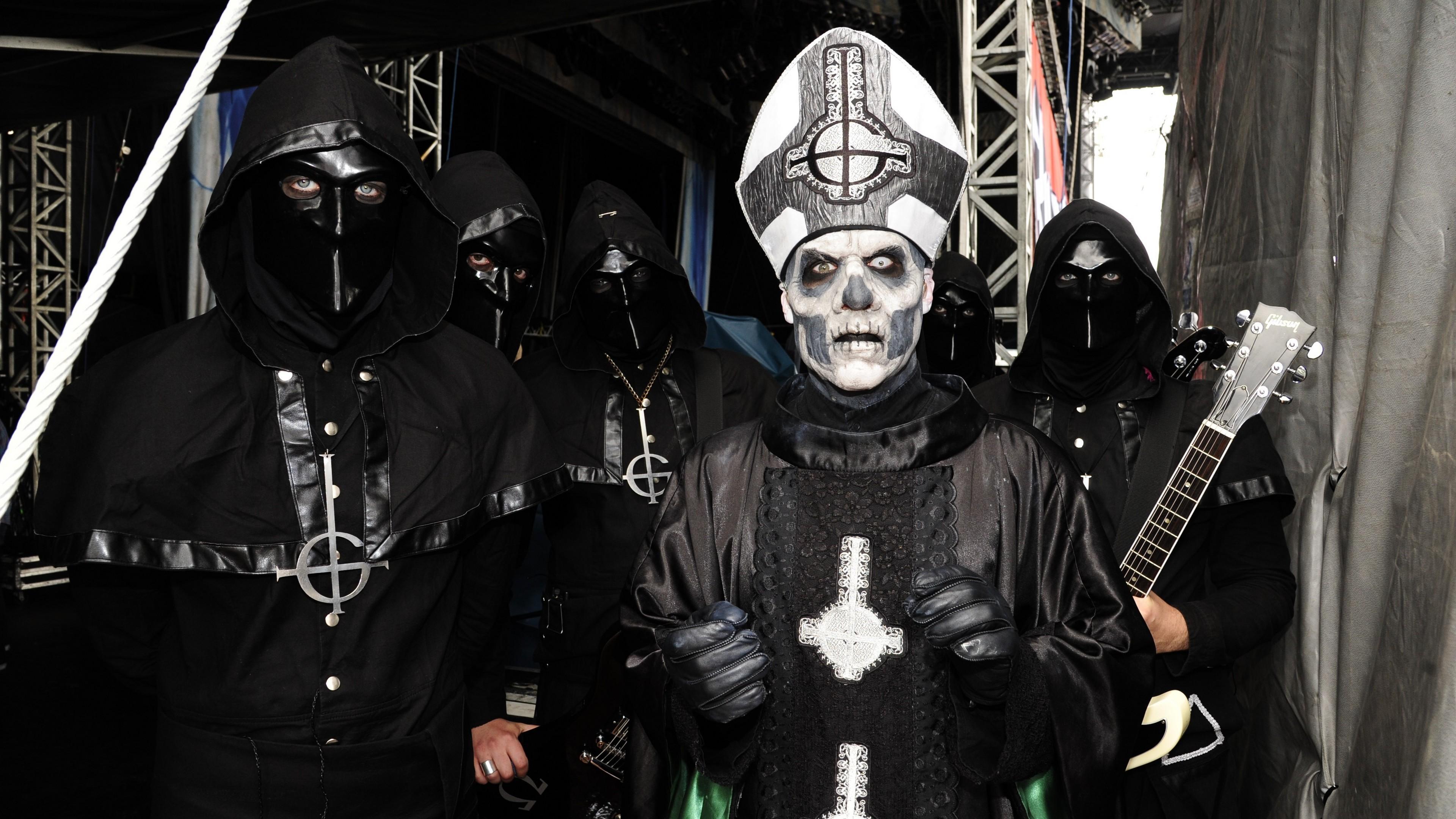 Res: 3840x2160, Ghost Heavy Metal Swedish Band Satanic Dark Wallpaper