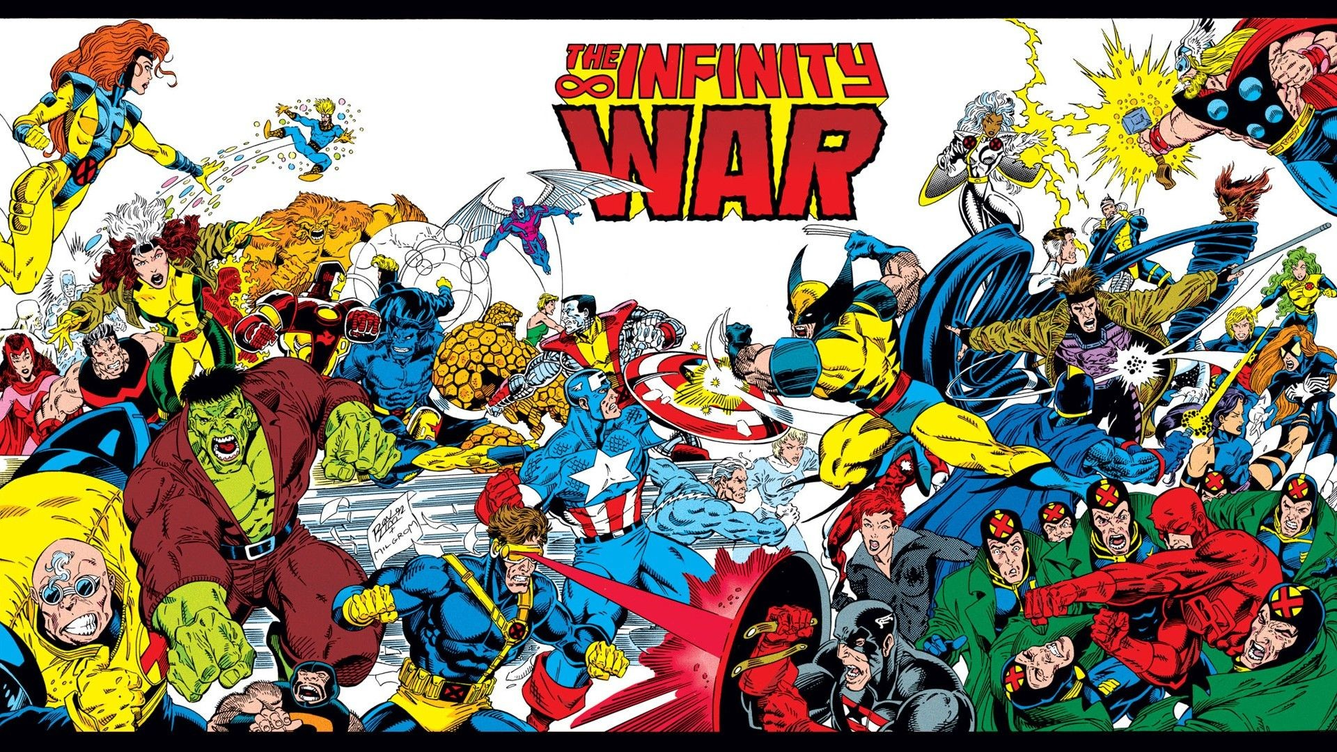 Res: 1920x1080, The Avengers, X Men, Wolverine, Comics Wallpaper