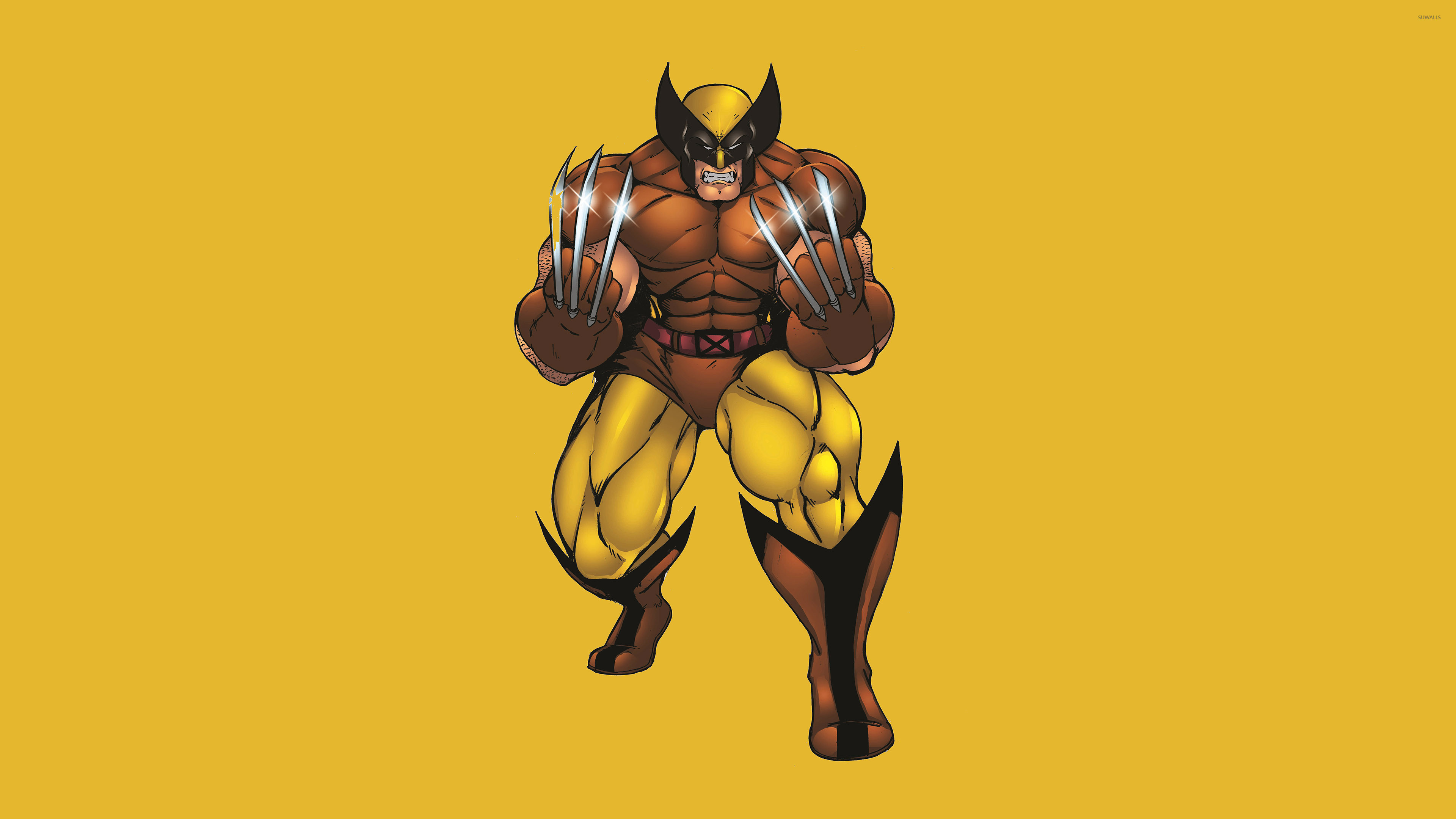 Res: 3840x2160, Wolverine with silver claws wallpaper