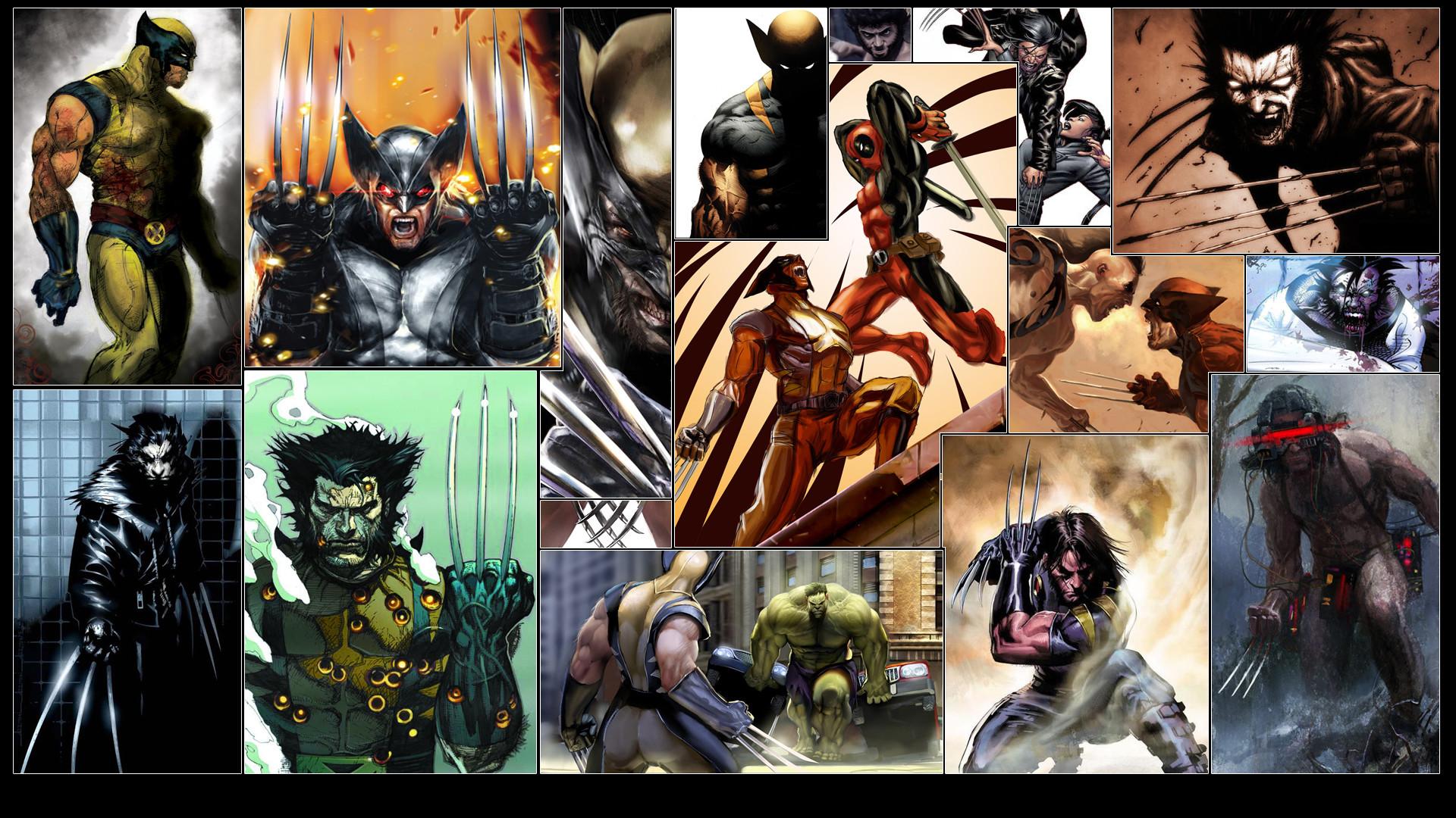 Res: 1920x1080, Comics - Wolverine Deadpool Hulk Wallpaper