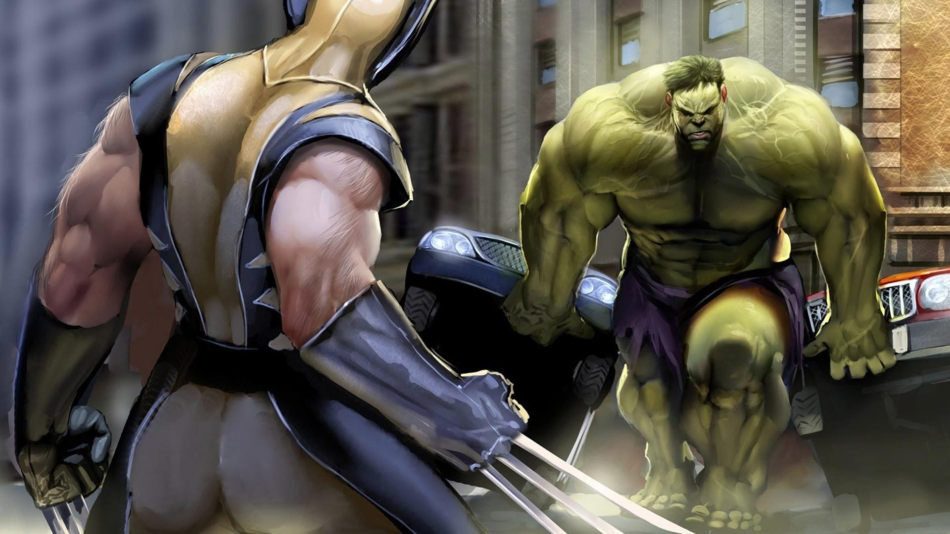 Res: 1920x1080, Hulk vs Wolverine, Marvel comics: