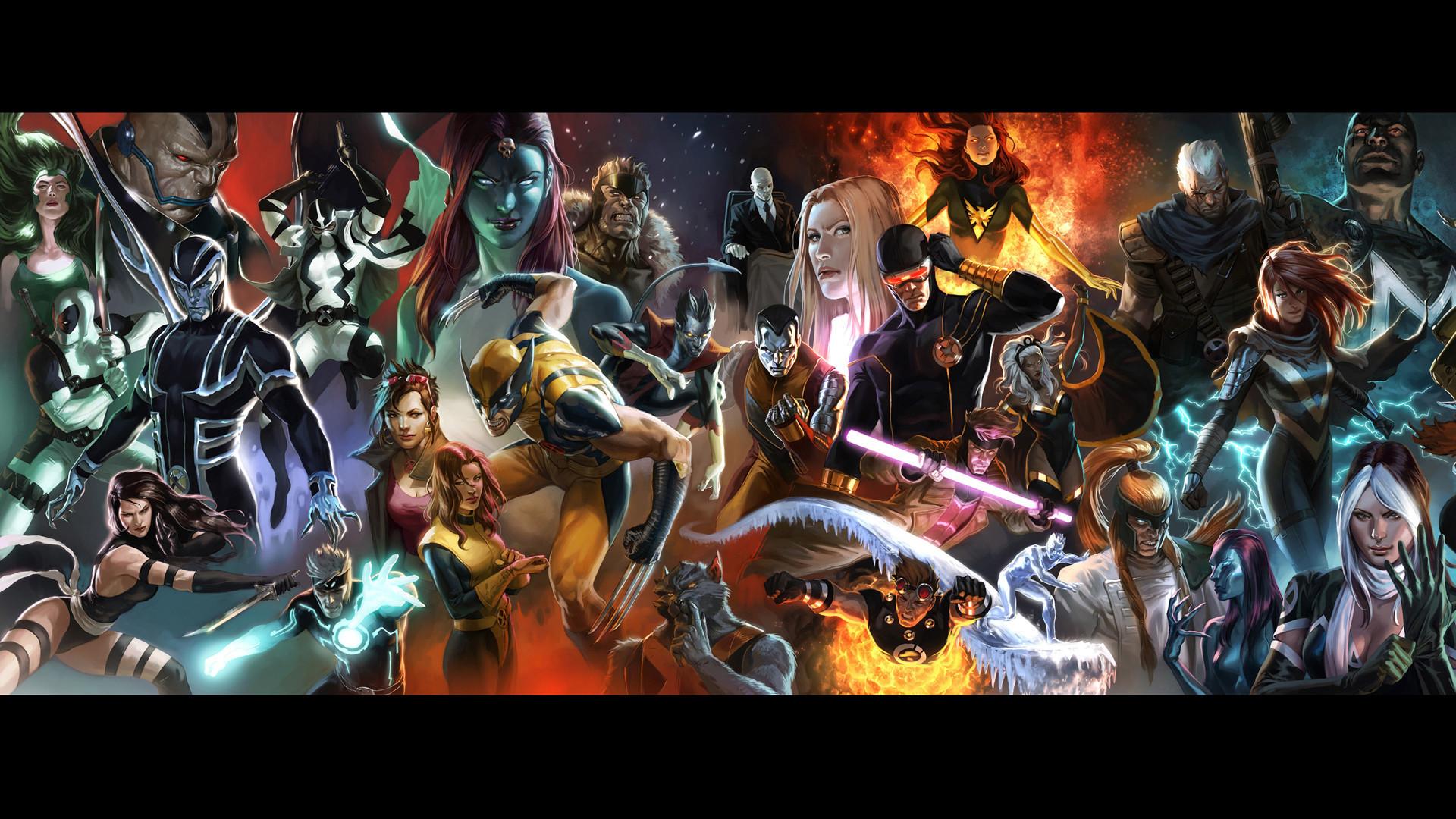 Res: 1920x1080,  Comics - Marvel Comics Wolverine X-Men Storm (X-Men) Charles
