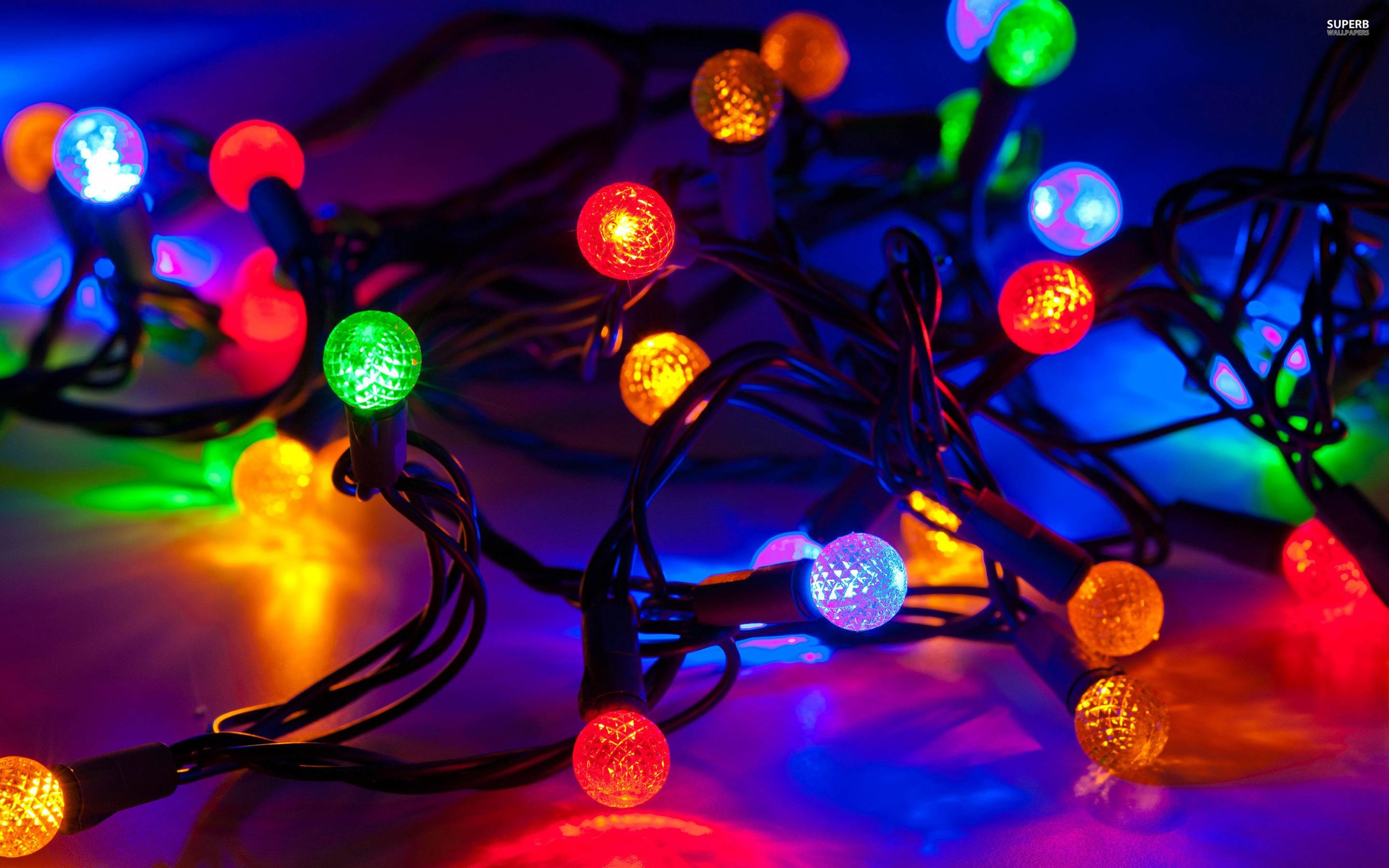 Res: 2880x1800, Christmas Lights HD Wallpaper - HD Wallpapers