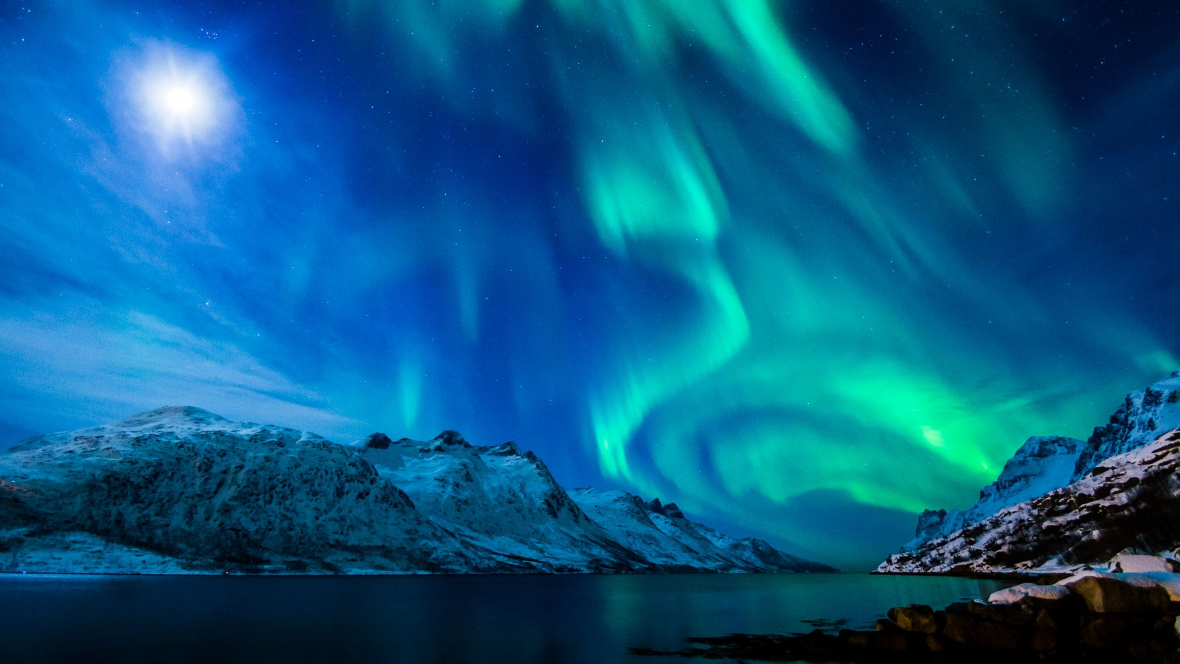 Res: 3840x2160,  Preview wallpaper northern lights, aurora borealis, uk, 2015