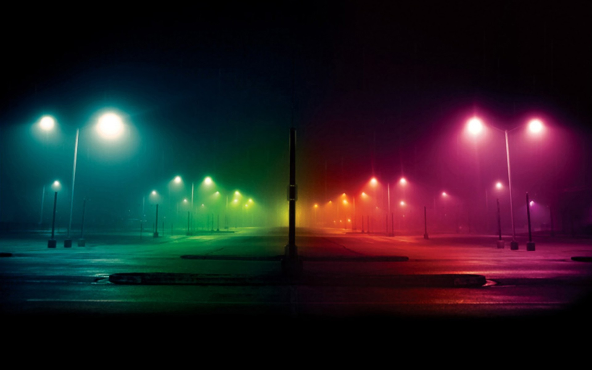 Res: 1920x1200,  Colorful City Lights Wallpaper