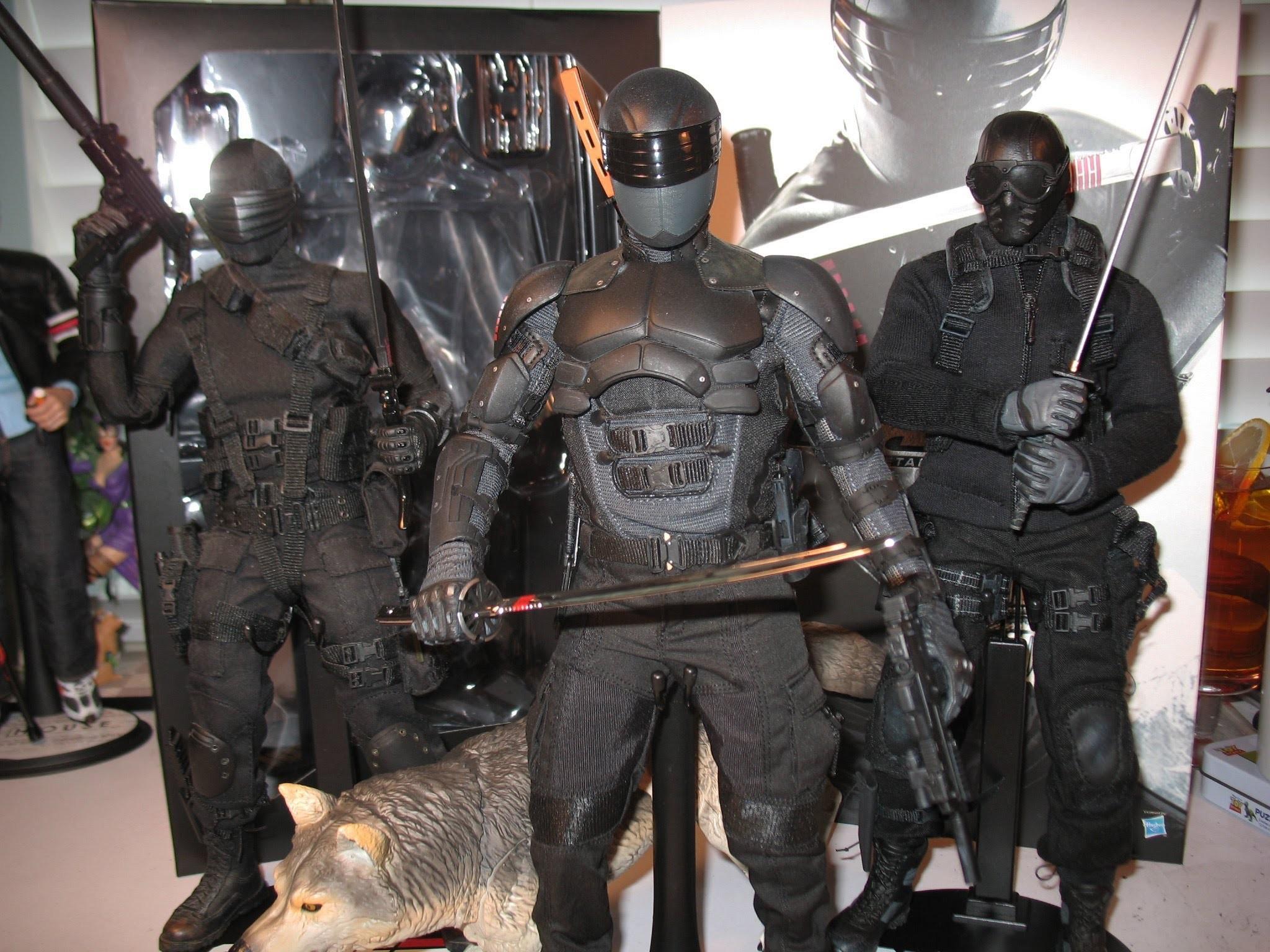 "Res: 2048x1536, 12"" 1/6 Hot Toys SNAKE EYES G.I. JOE RETALIATION movie figure! Commando  Ninja! Storm Shadow! Timber! - YouTube"