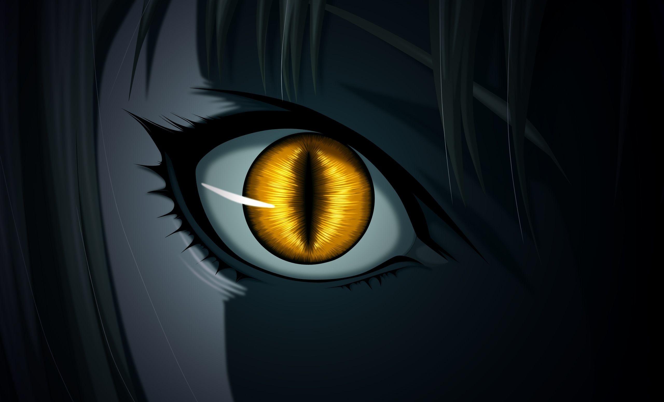 Res: 2560x1550, Anime Claymore Evil Dark Ninja Monster Snake Eyes Yellow Wallpaper
