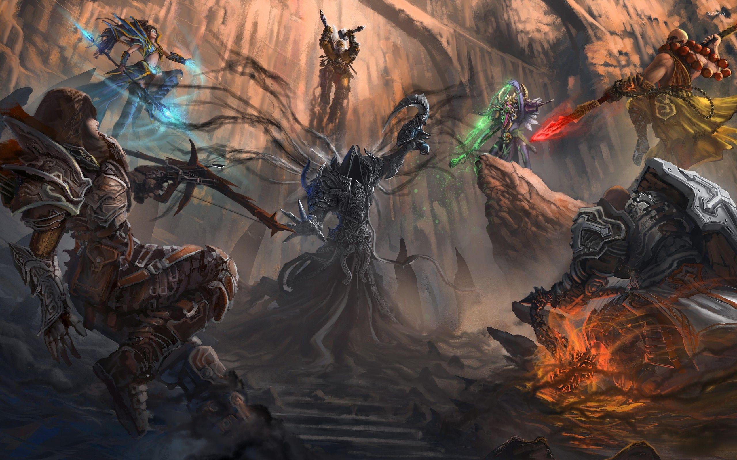 Res: 2560x1600, Heroes in Diablo III wallpaper