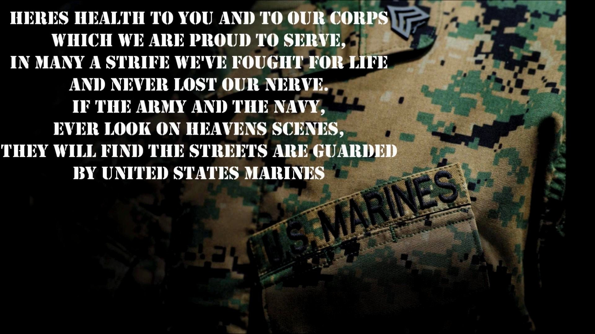 Res: 1920x1080, Marine Corps Quotes Cool Marine Corp Wallpaper ·①