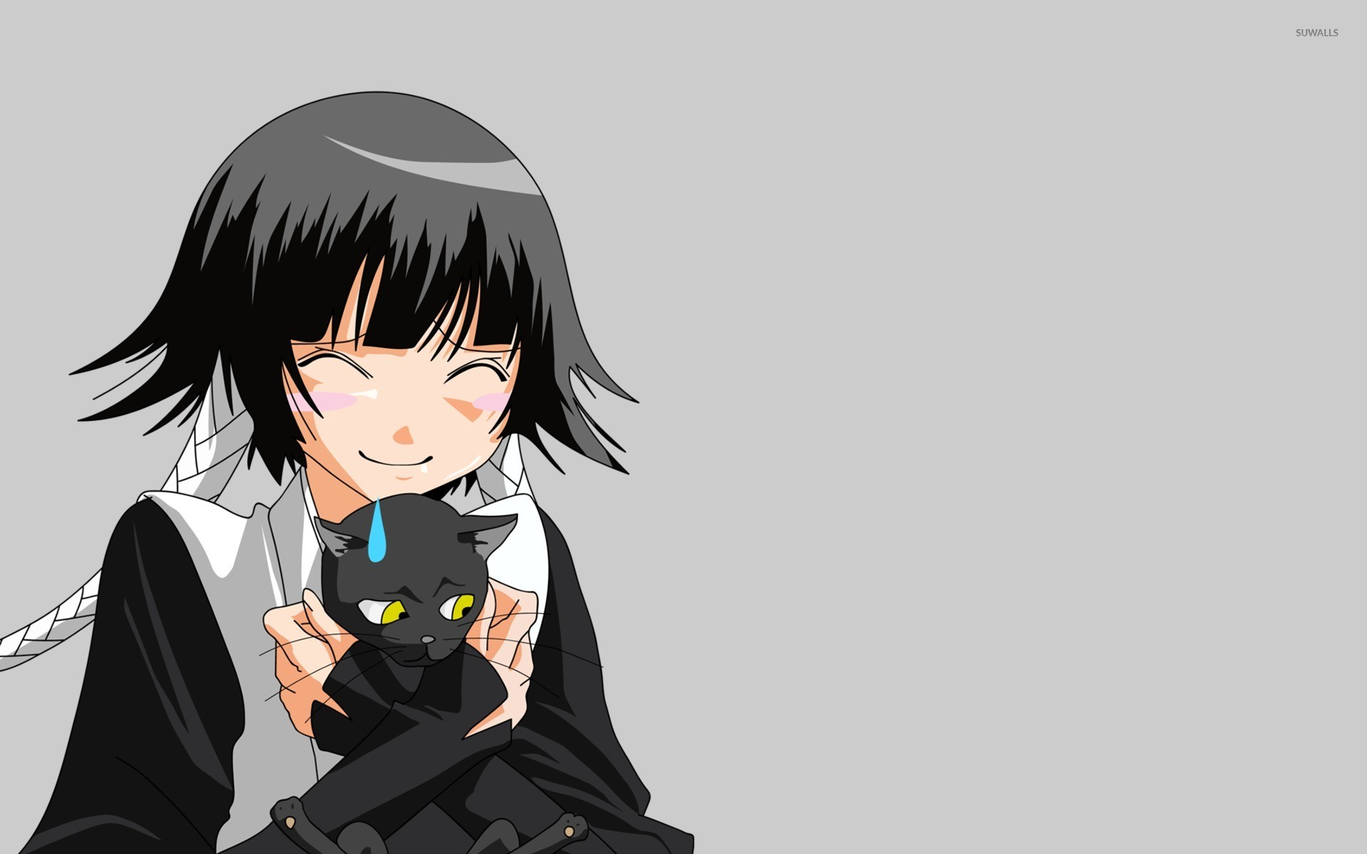 Res: 1920x1200, Sui-Feng holding a black cat - Bleach wallpaper