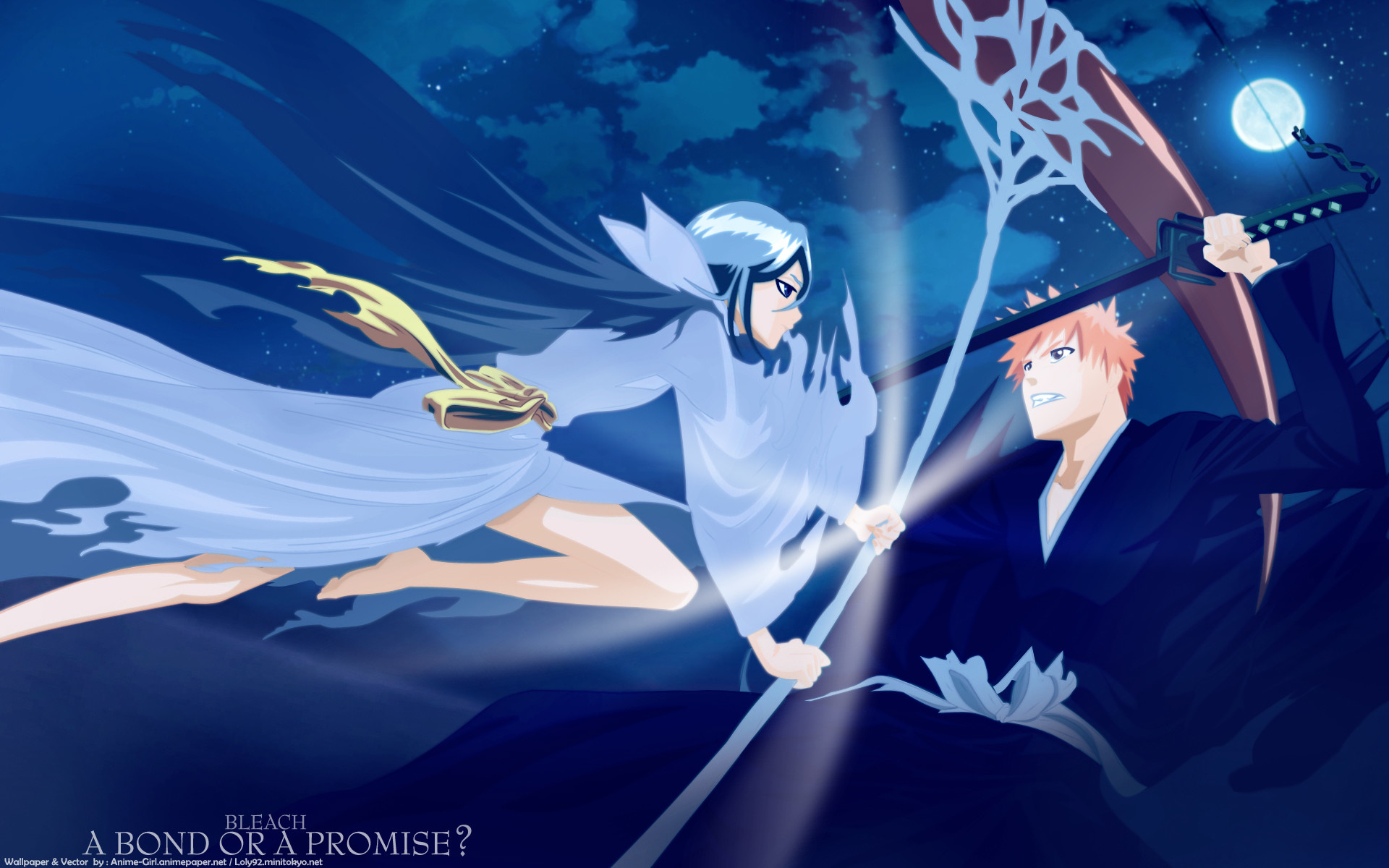 Res: 1920x1200, Bleach Forever images Ichigo X Dark Rukia HD wallpaper and background photos