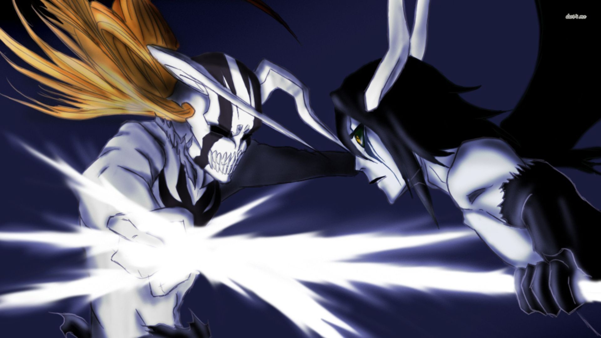 Res: 1920x1080, ... Ulquiorra Cifer vs Hollow Ichigo - Bleach wallpaper  ...