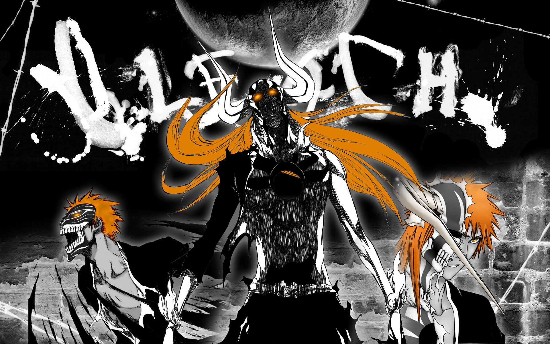 Res: 1920x1200, ichigo hollow and even kon 2 hours wallpaper bleach bleach hollow