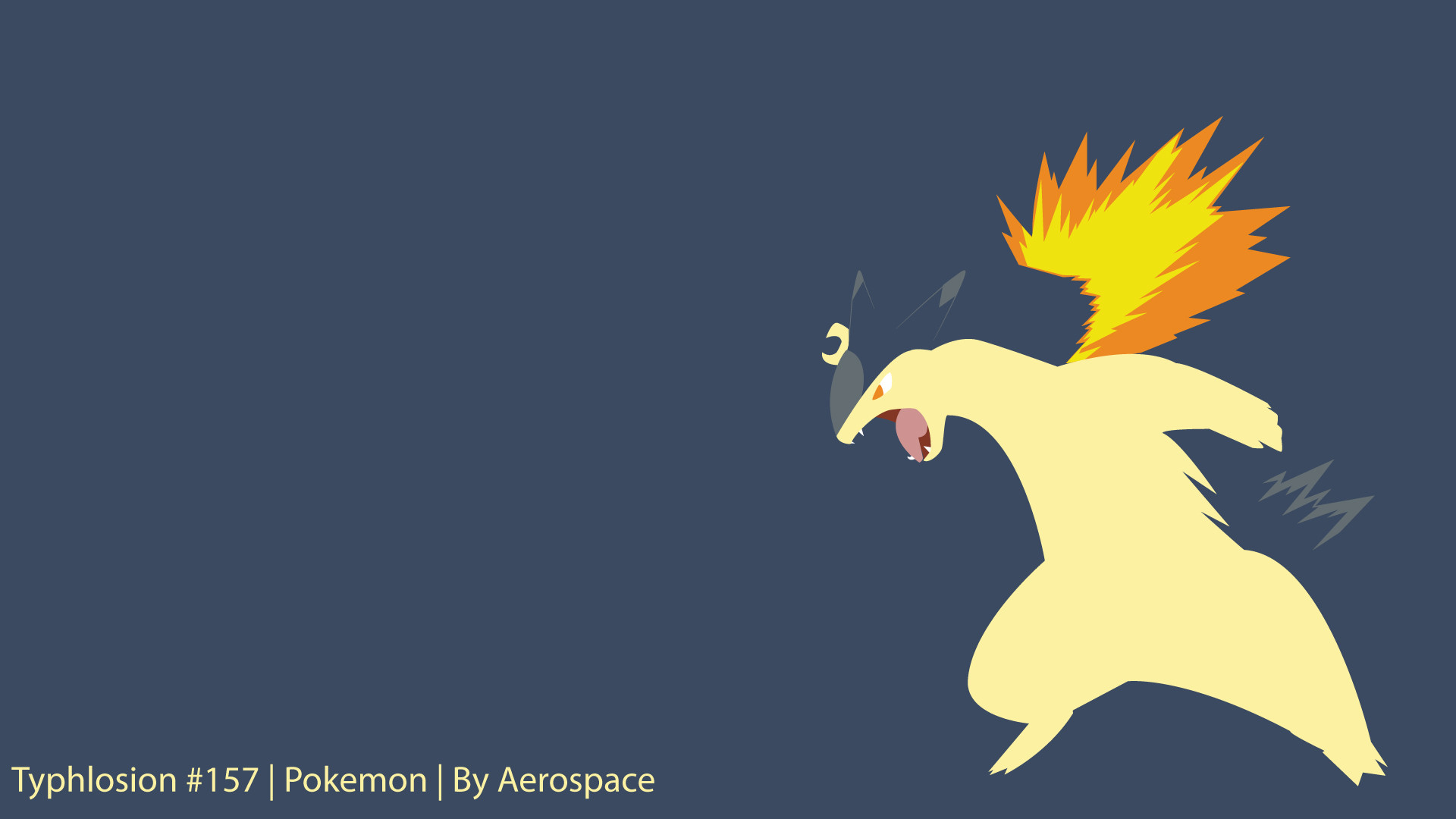 Res: 1920x1080, Typhlosion by aerospace111 Typhlosion by aerospace111