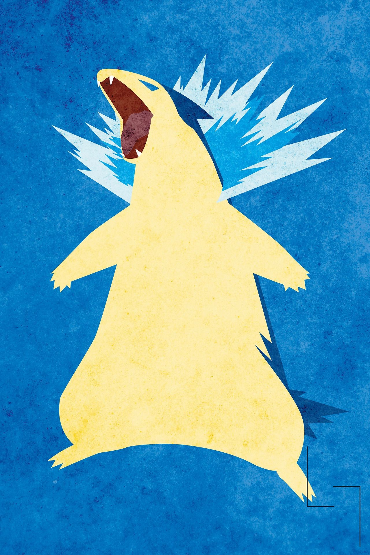 Res: 1280x1920, Blue Flame Typhlosion - JHTY 23