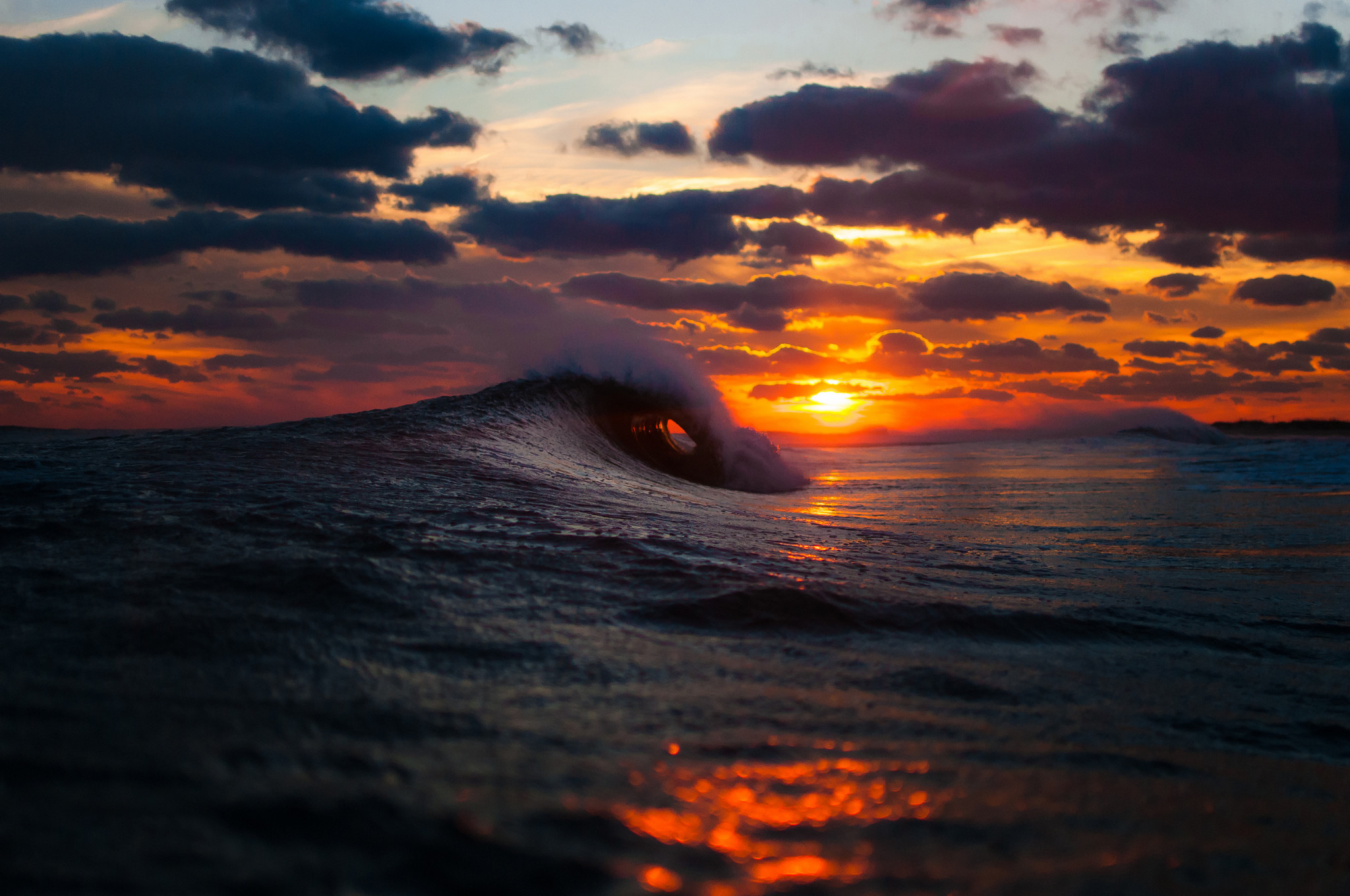 Res: 2048x1360, Ocean Waves Sunset Wallpapers First HD Wallpapers