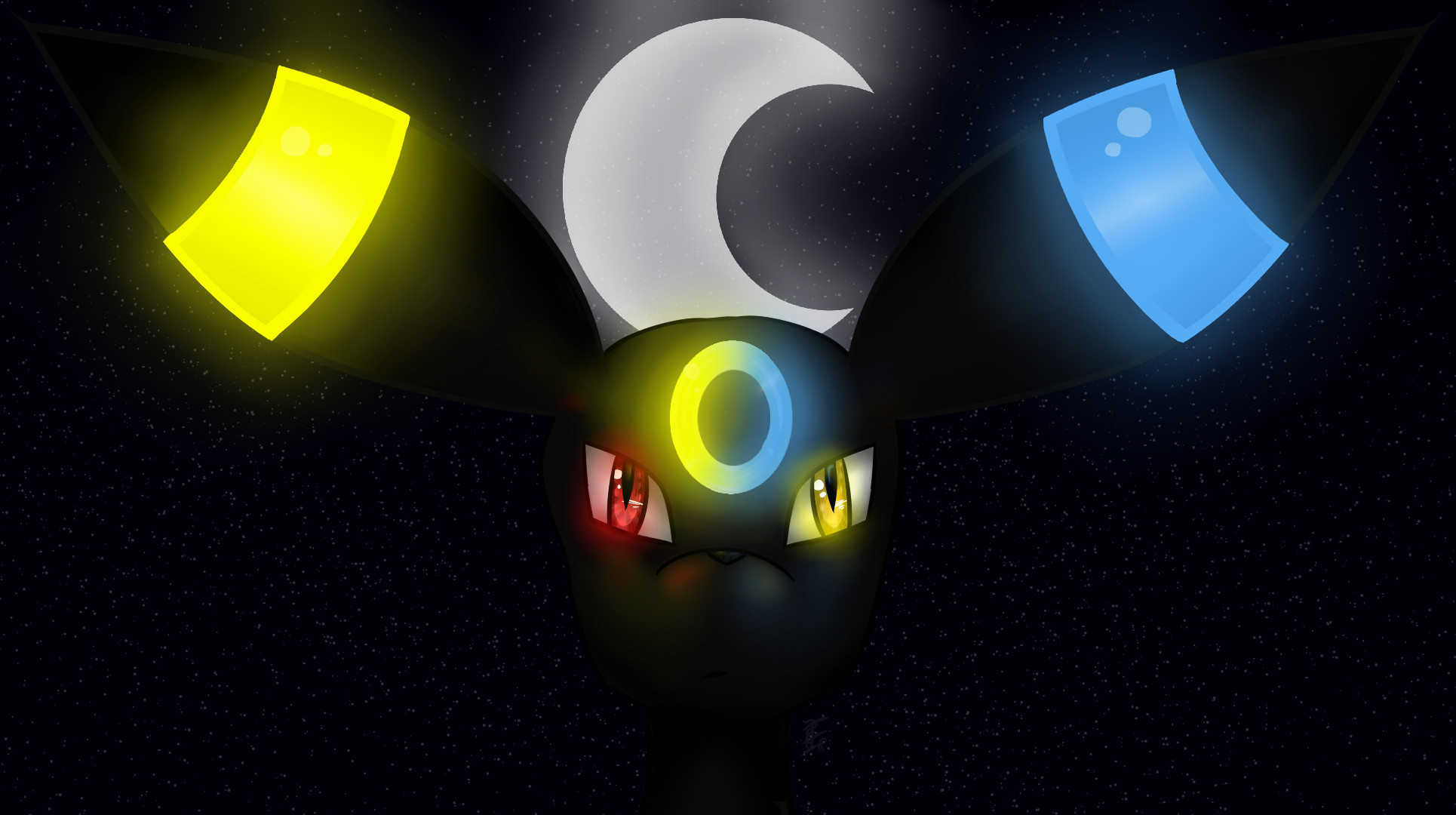 Res: 1930x1080, Umbreon Two Sides {Pokemons} by EndRei71 on DeviantArt