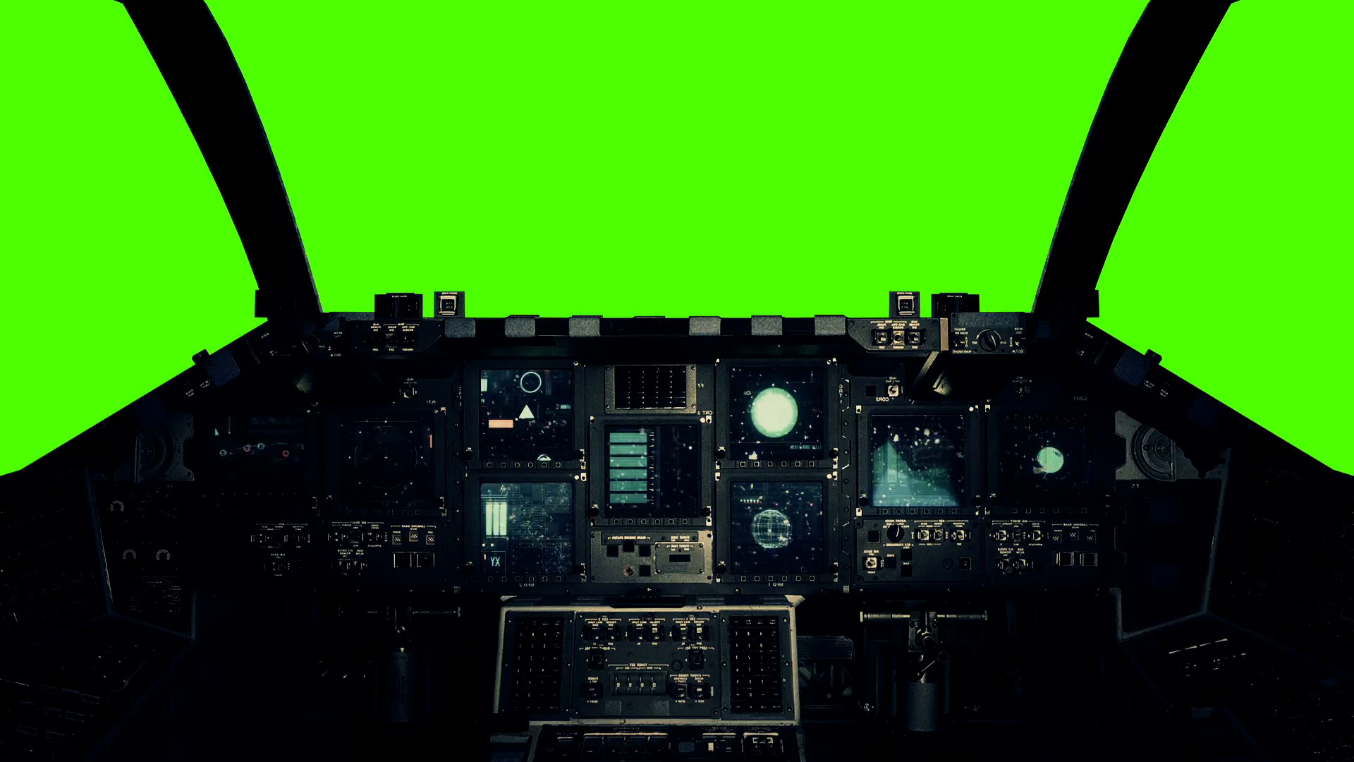 Res: 1920x1080, Spaceship Cockpit in a Pilot Point of view on a Green Screen Background  Stock Video Footage - Videoblocks