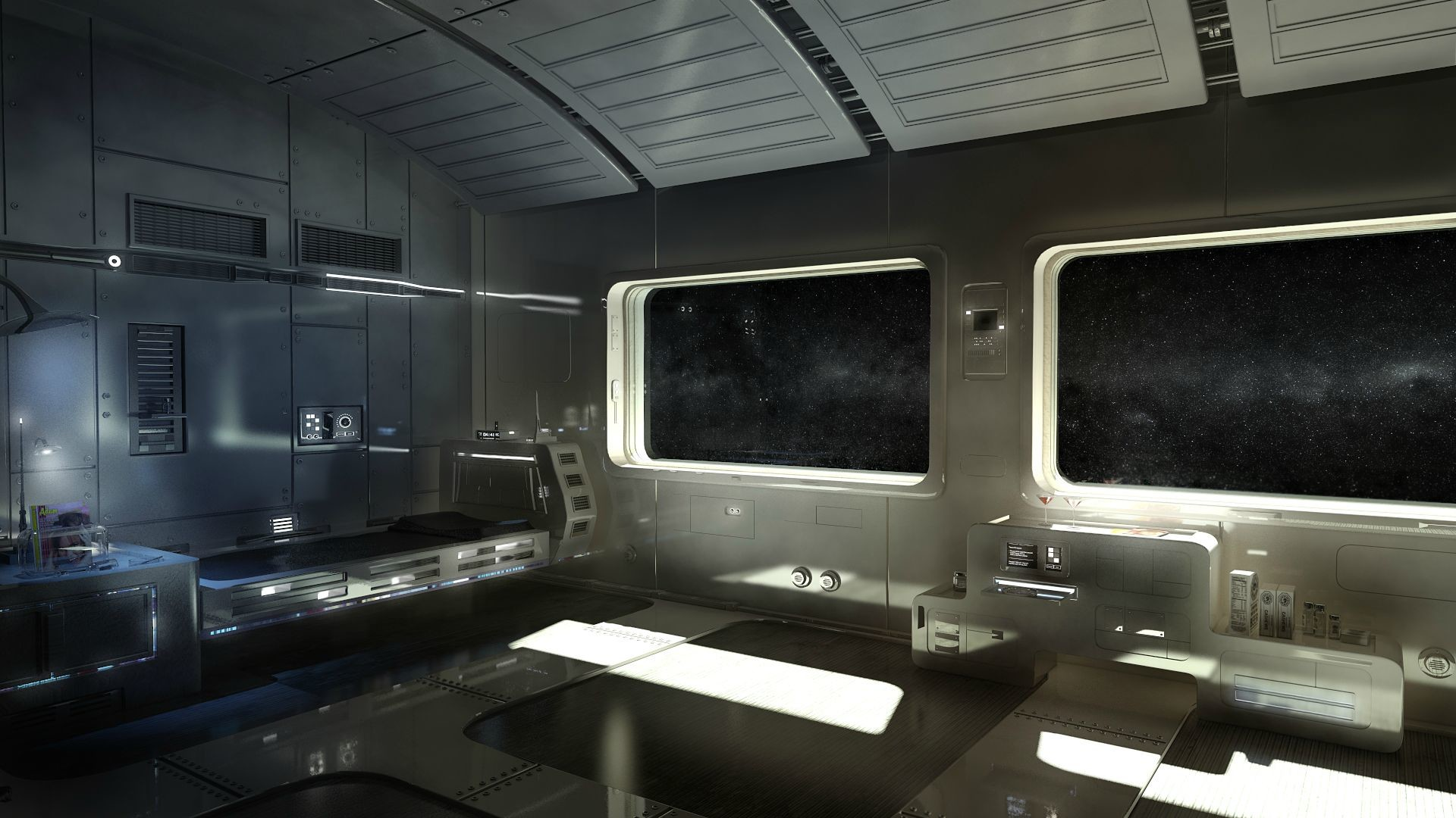 Res: 1920x1080, Room on a spaceship () ...