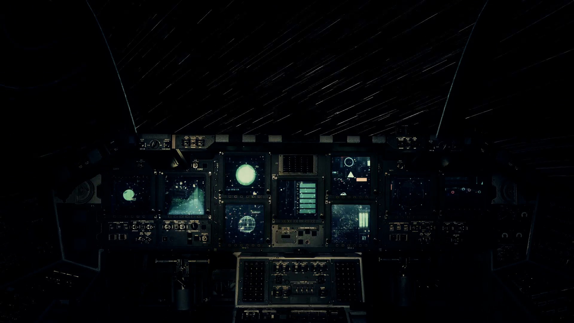 Res: 1920x1080, Spaceship Cockpit in a Pilot Point of view Traveling on a Speed of Light  Through the