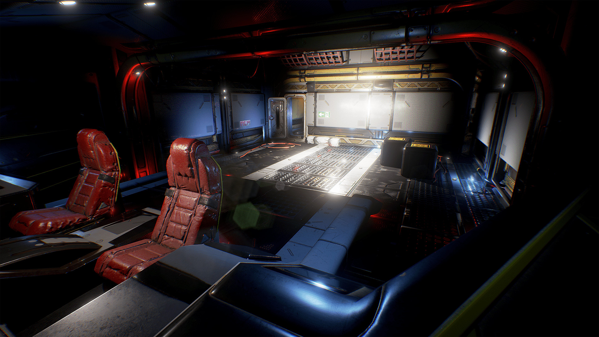 Res: 1920x1080, Spaceship Interior Environment Set by Denys Rutkovskyi in Environments -  UE4 Marketplace