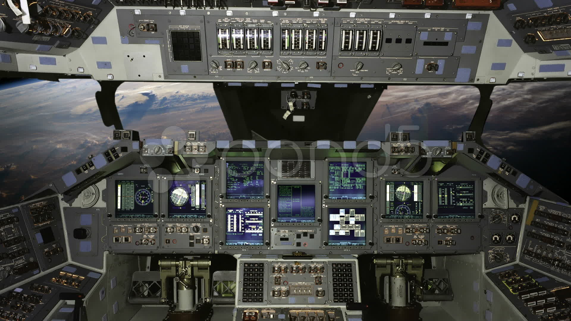 Res: 1920x1080, Space Shuttle Cockpit Wallpaper