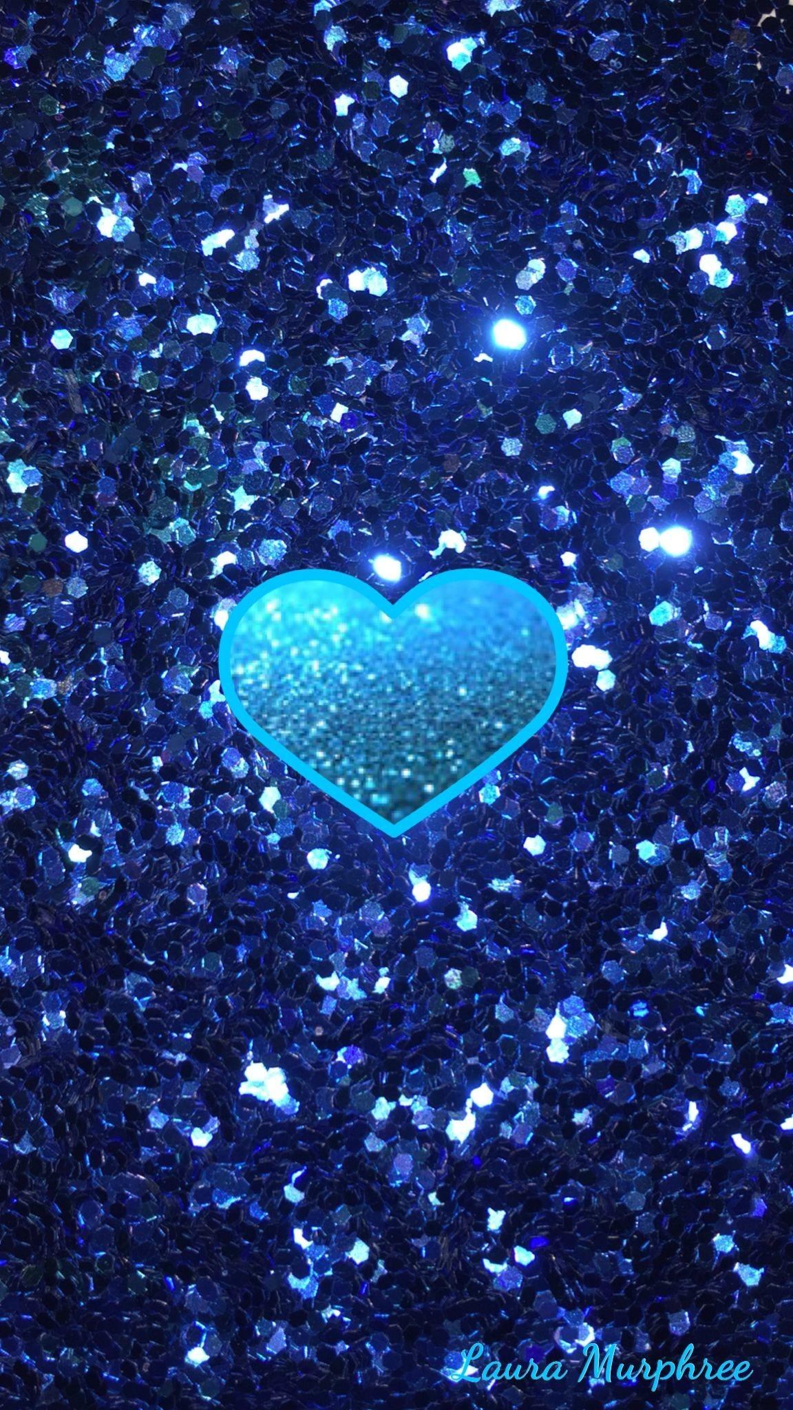 Res: 1152x2048, Glitter phone wallpaper Glitter phone wallpaper sparkle background sparkling  glittery shimmer girly pretty blue heart