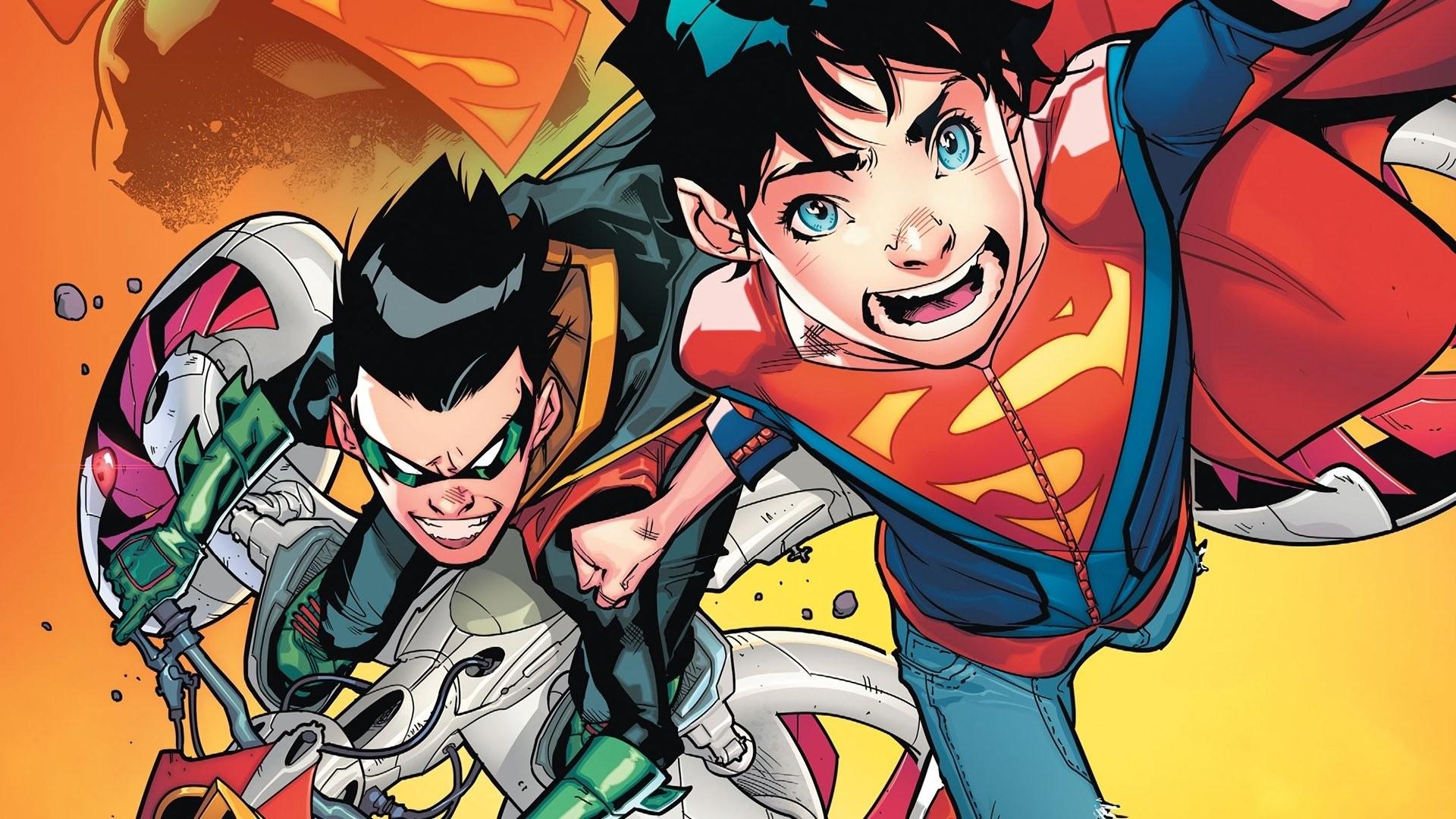 Res: 1920x1080, Comics - Super-Sons Robin (DC Comics) Damian Wayne Superboy Superman  Wallpaper