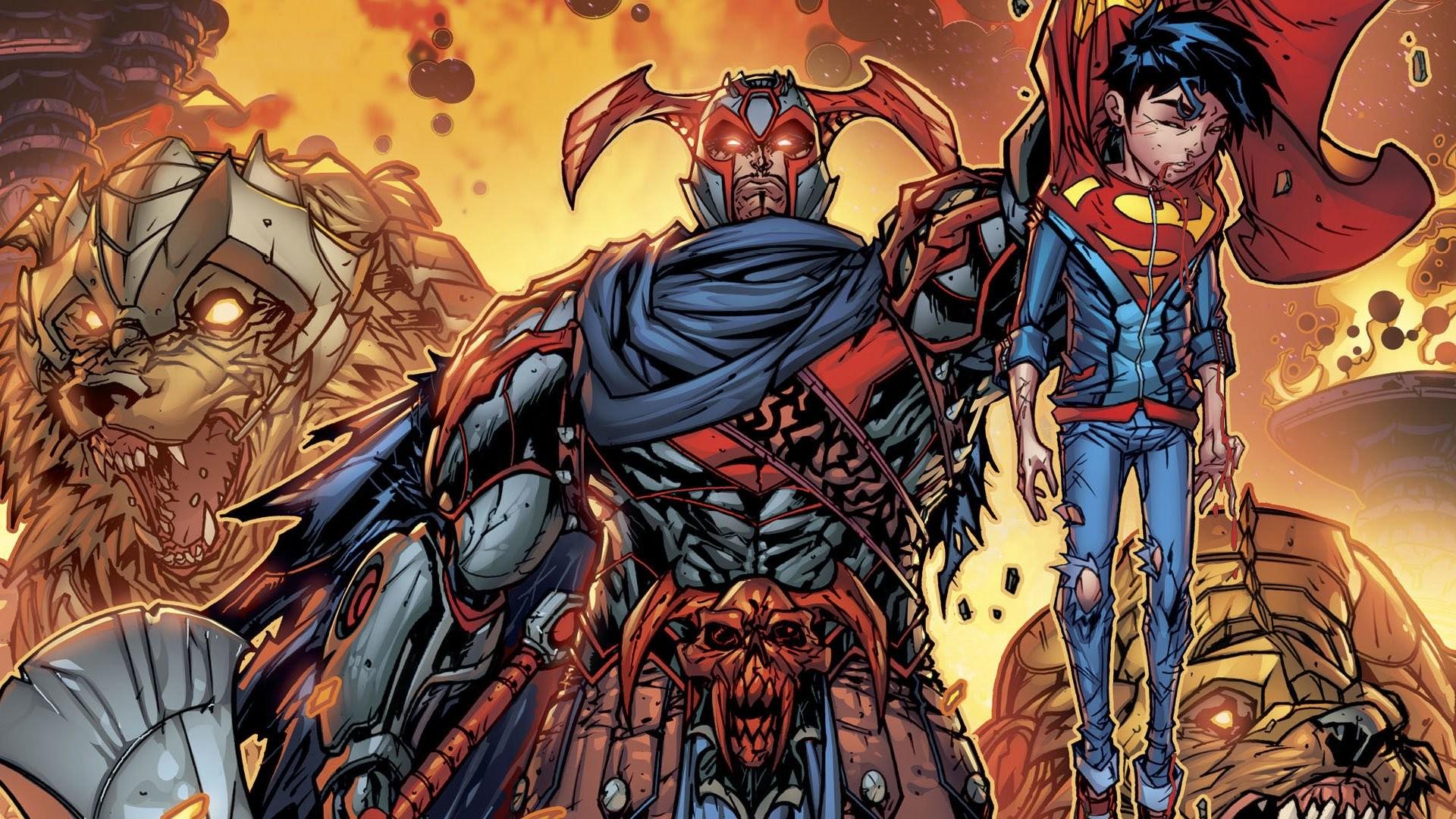 Res: 1920x1080, Comics - Steppenwolf Superman DC Comics Gerechtigkeitsliga Superboy  Wallpaper