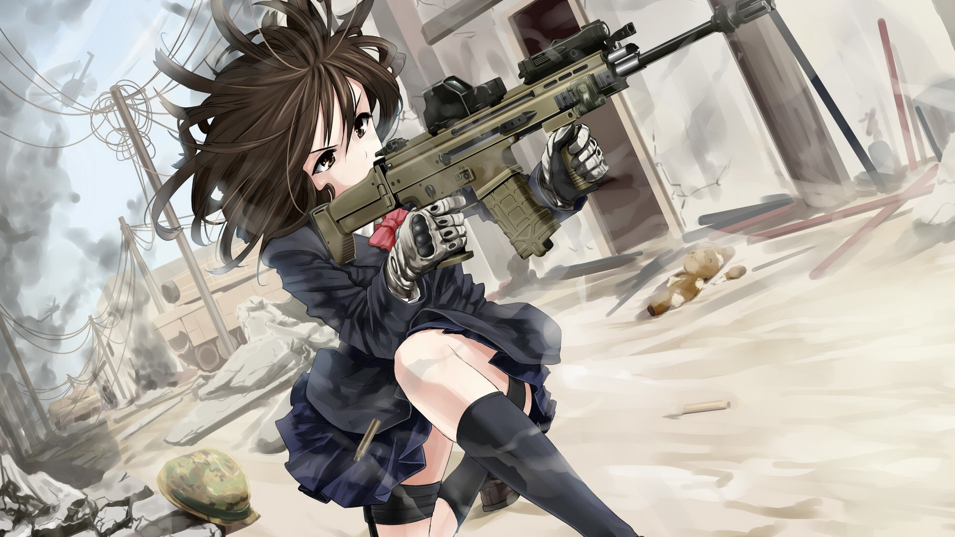 Res: 1920x1080, Anime Girl With Gun HD Wallpaper |  | ID:52529