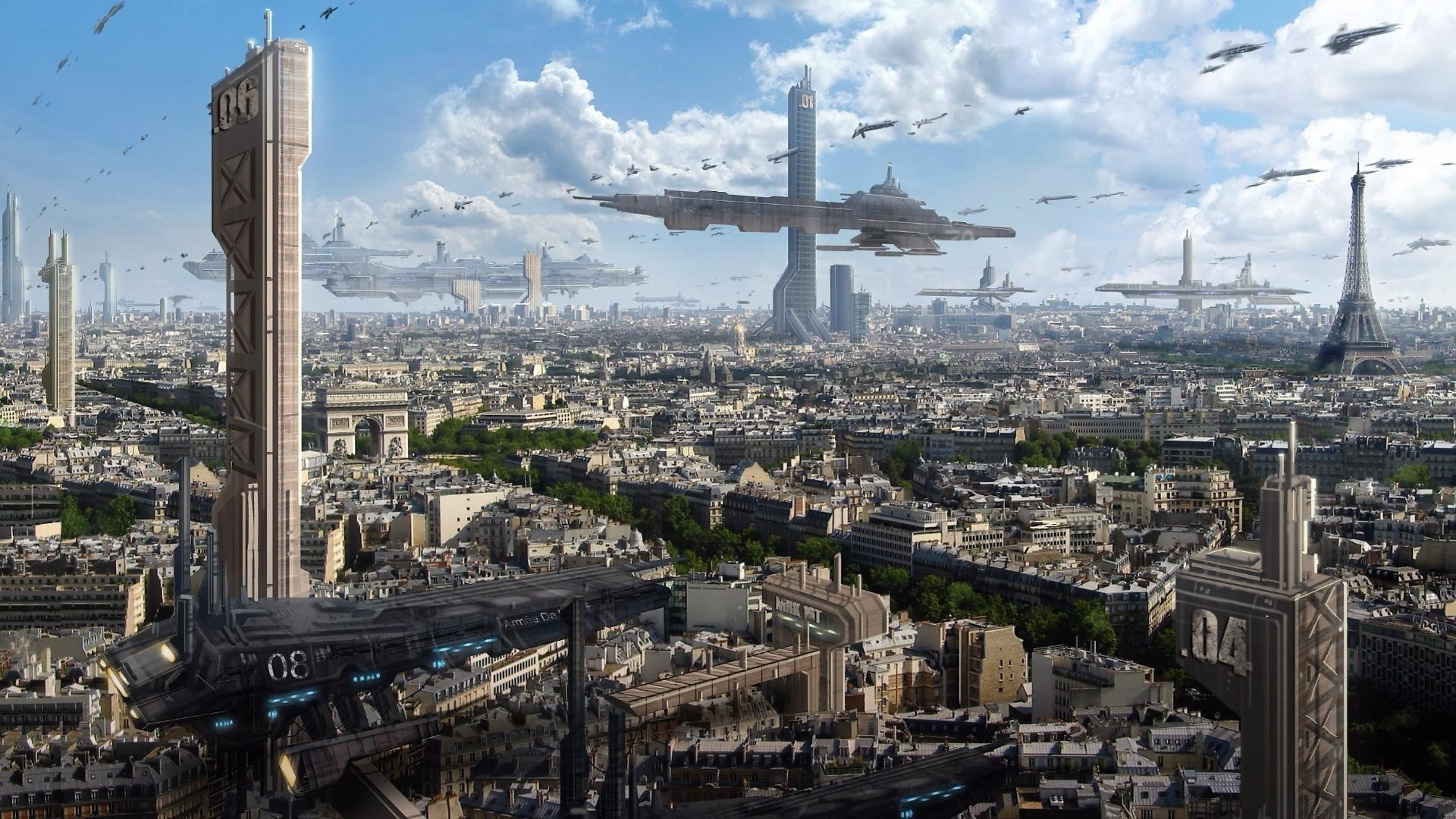 Res: 1920x1080, The Future Of Paris Wallpaper | Wallpaper Studio 10 | Tens of thousands HD  and UltraHD wallpapers for Android, Windows and Xbox
