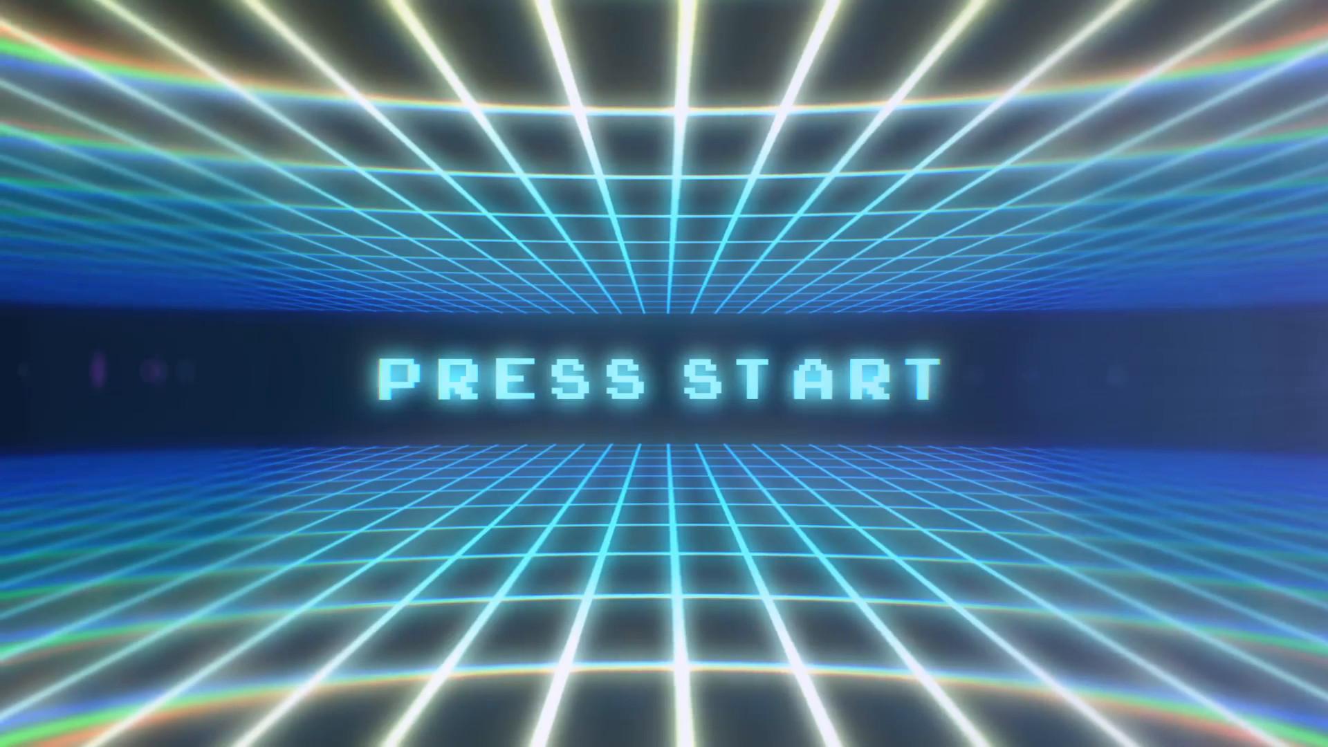 Res: 1920x1080, Video Game Press Start Retro Arcade Screen Motion Background - Videoblocks