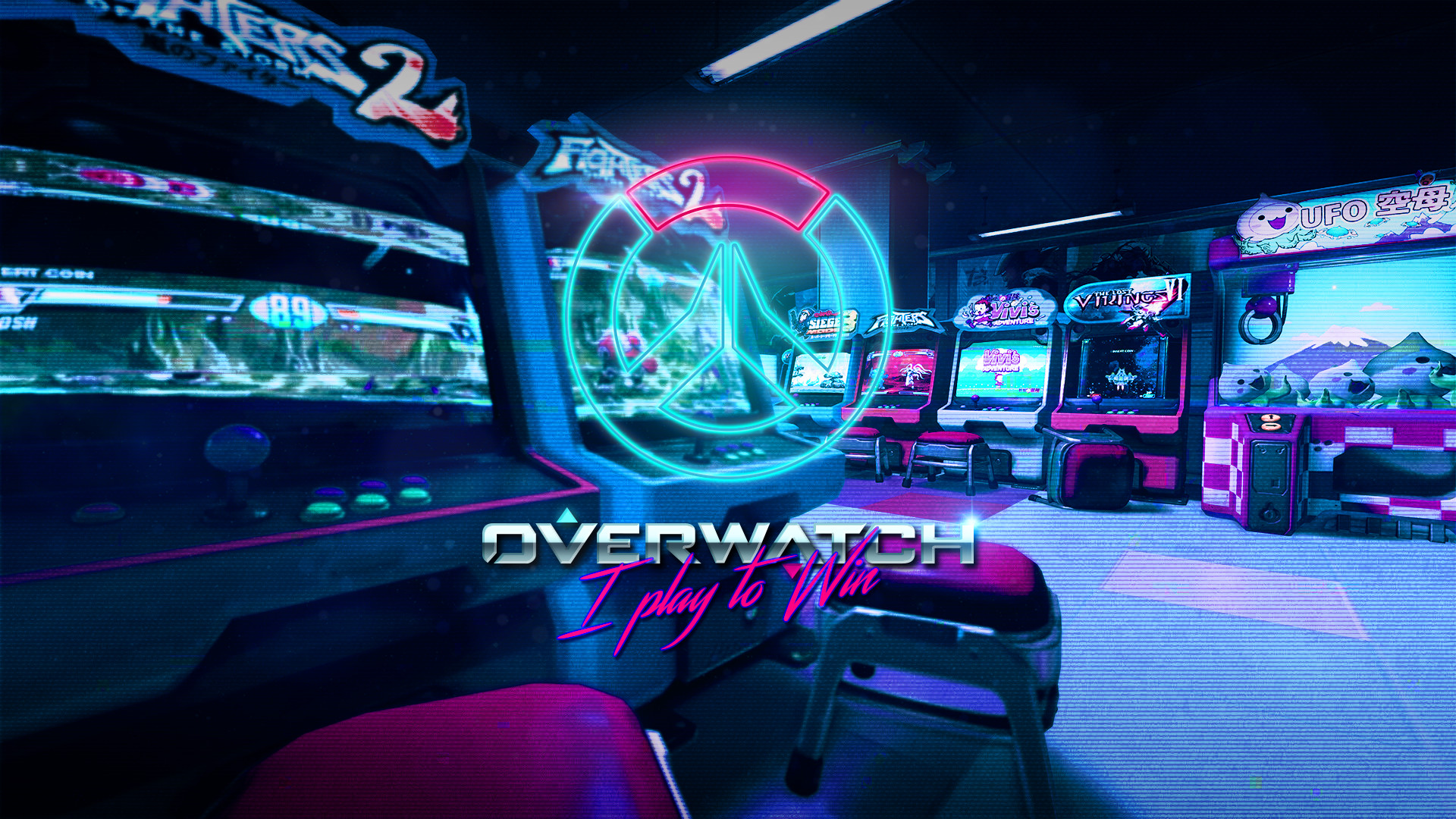 Res: 1920x1080, Overwatch synthwave retro something something kind of wallpaper yeah -  Album on Imgur