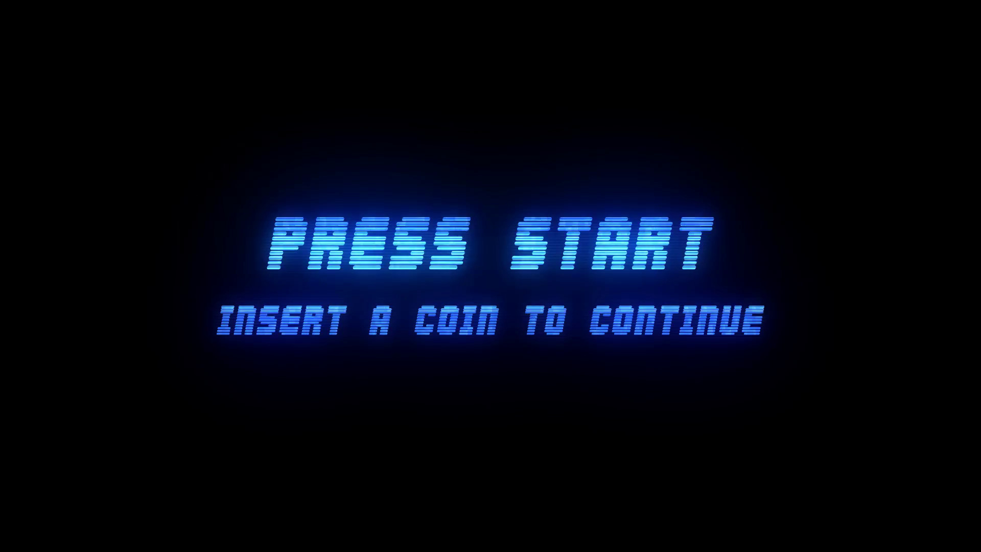 Res: 1920x1080, PRESS START - INSERT A COIN TO CONTINUE - RETRO ARCADE style 4 Motion  Background - Videoblocks