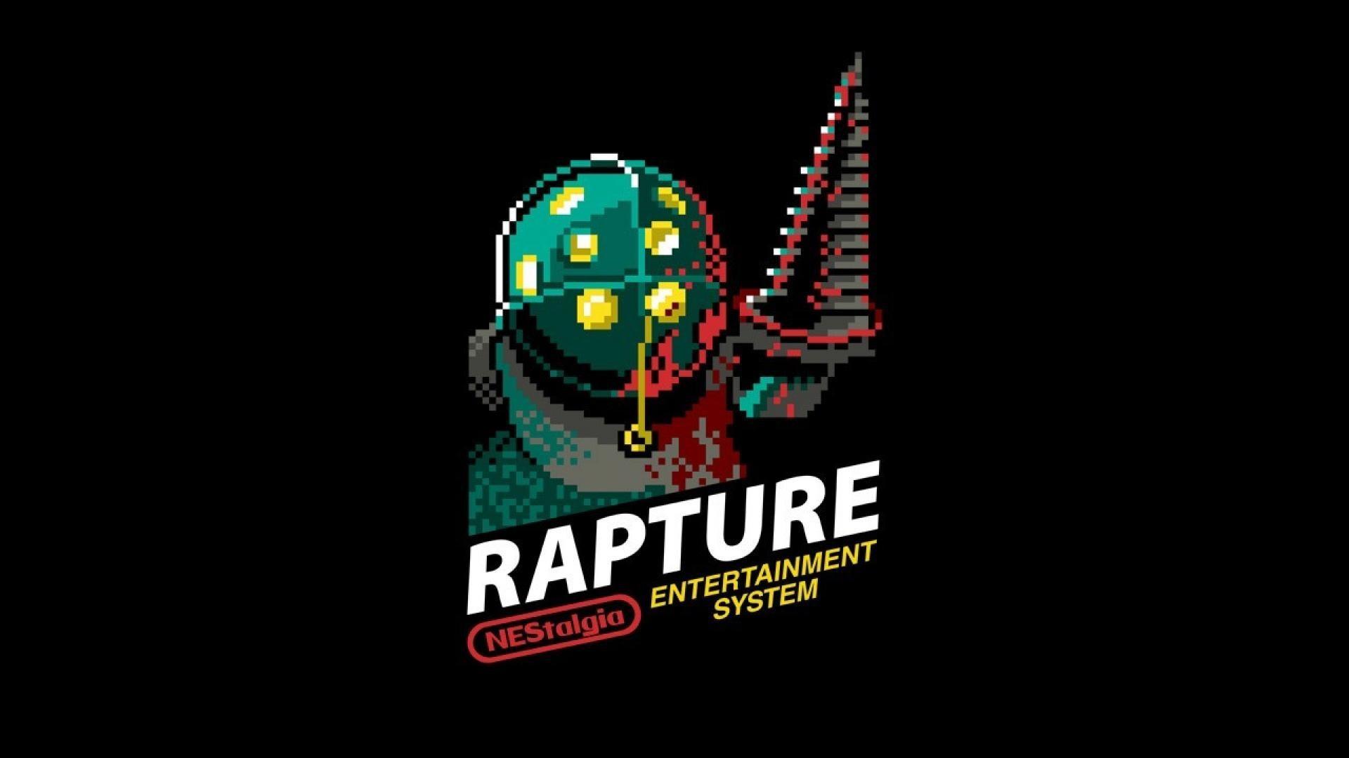 Res: 1920x1080, Bioshock rapture retro games nes 8 bit game wallpaper 39650