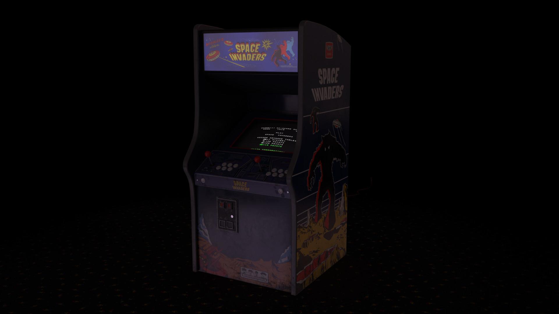 Res: 1920x1080, Retro Arcade Machine