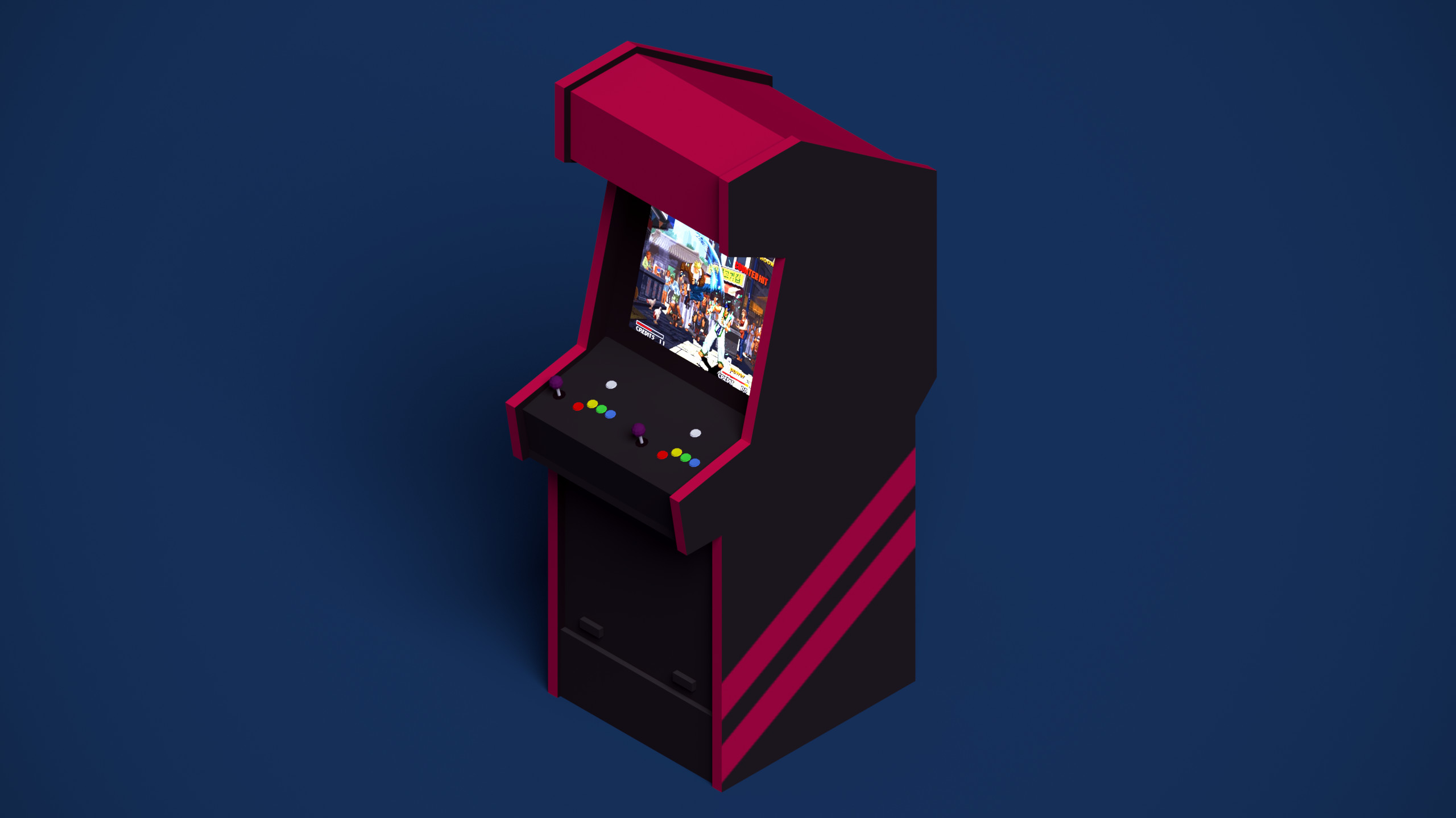 Res: 2560x1440, Awesome Arcade Wallpaper